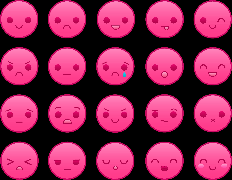 pink emoticons set free clip art rh sweetclipart com Money Smiley Face Clip Art Flower Smiley Face Clip Art