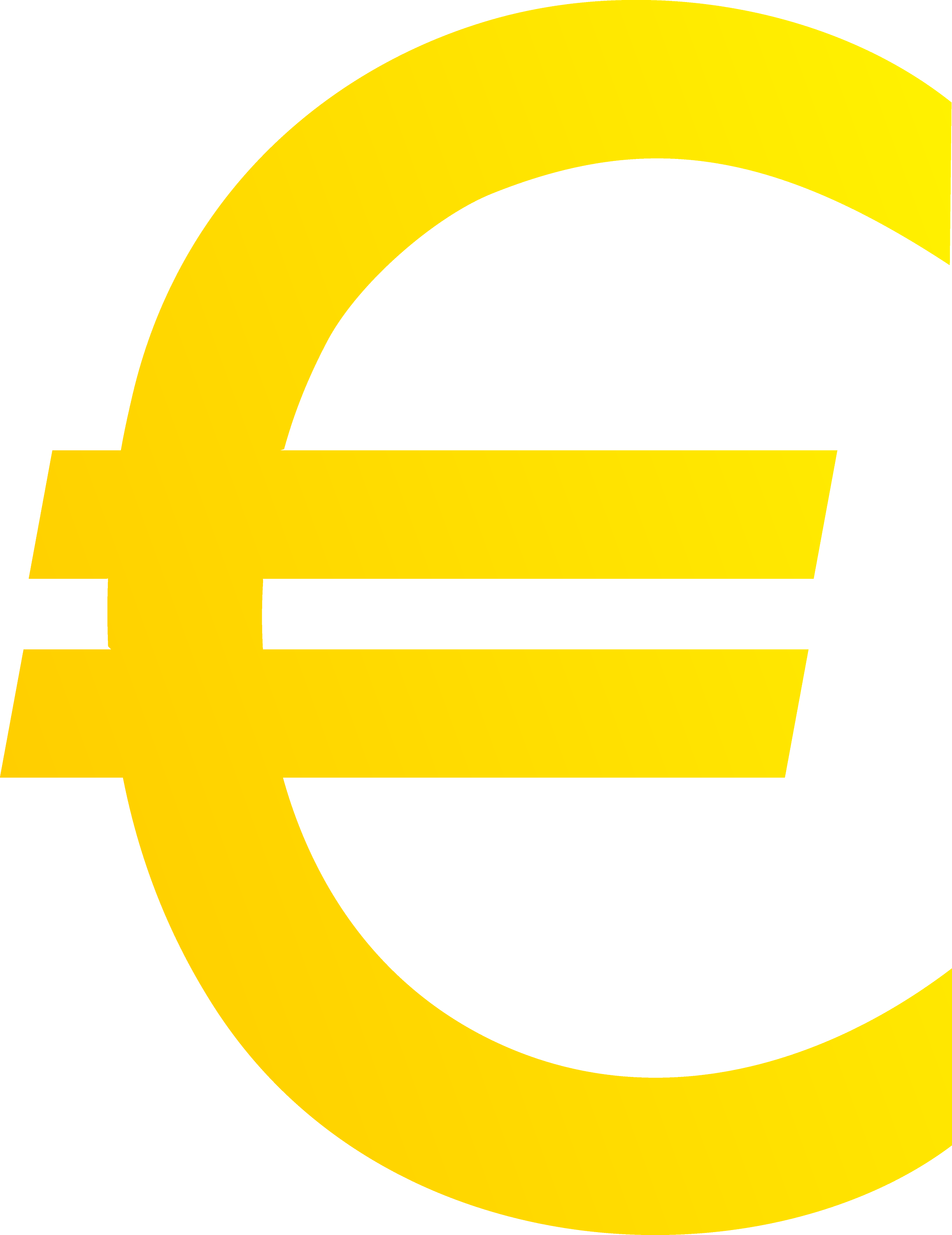 Golden Euro Currency Symbol Free Clip Art