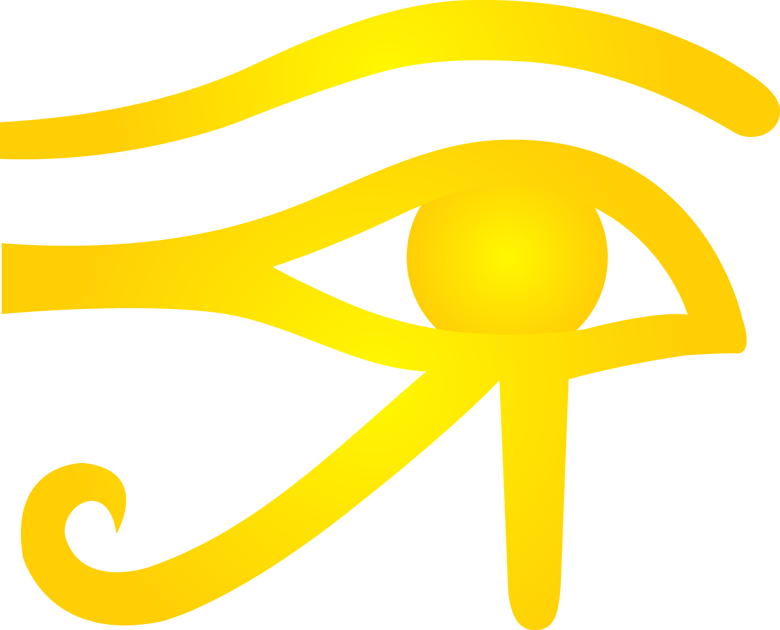 Golden Eye Of Horus Symbol Free Clip Art