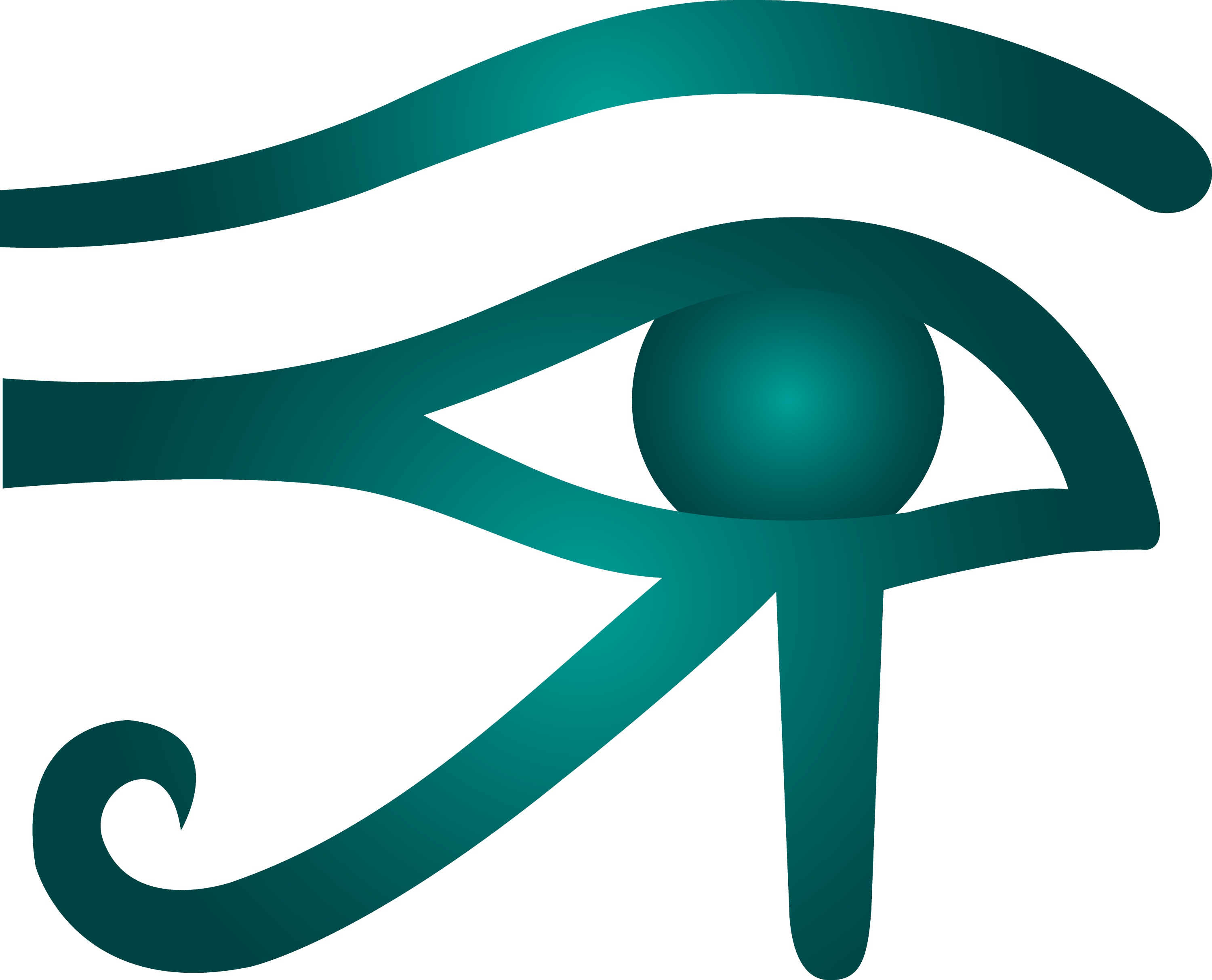 Blue Eye Of Horus Symbol Free Clip Art