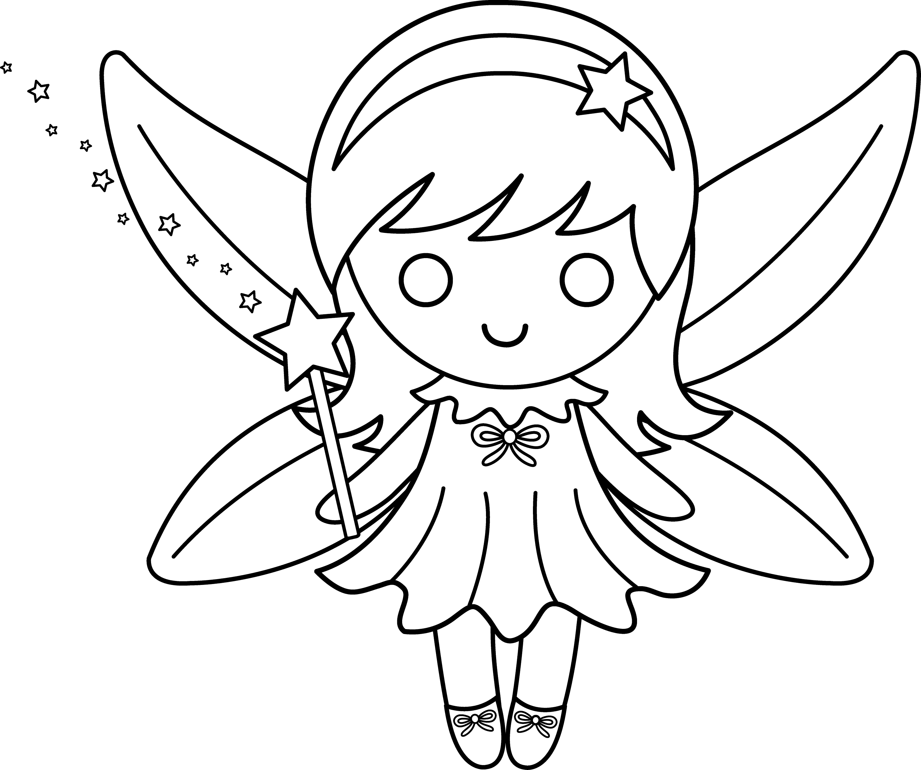 Fairy coloring pages for kids to print - timeless-miracle.com | 5772x6902