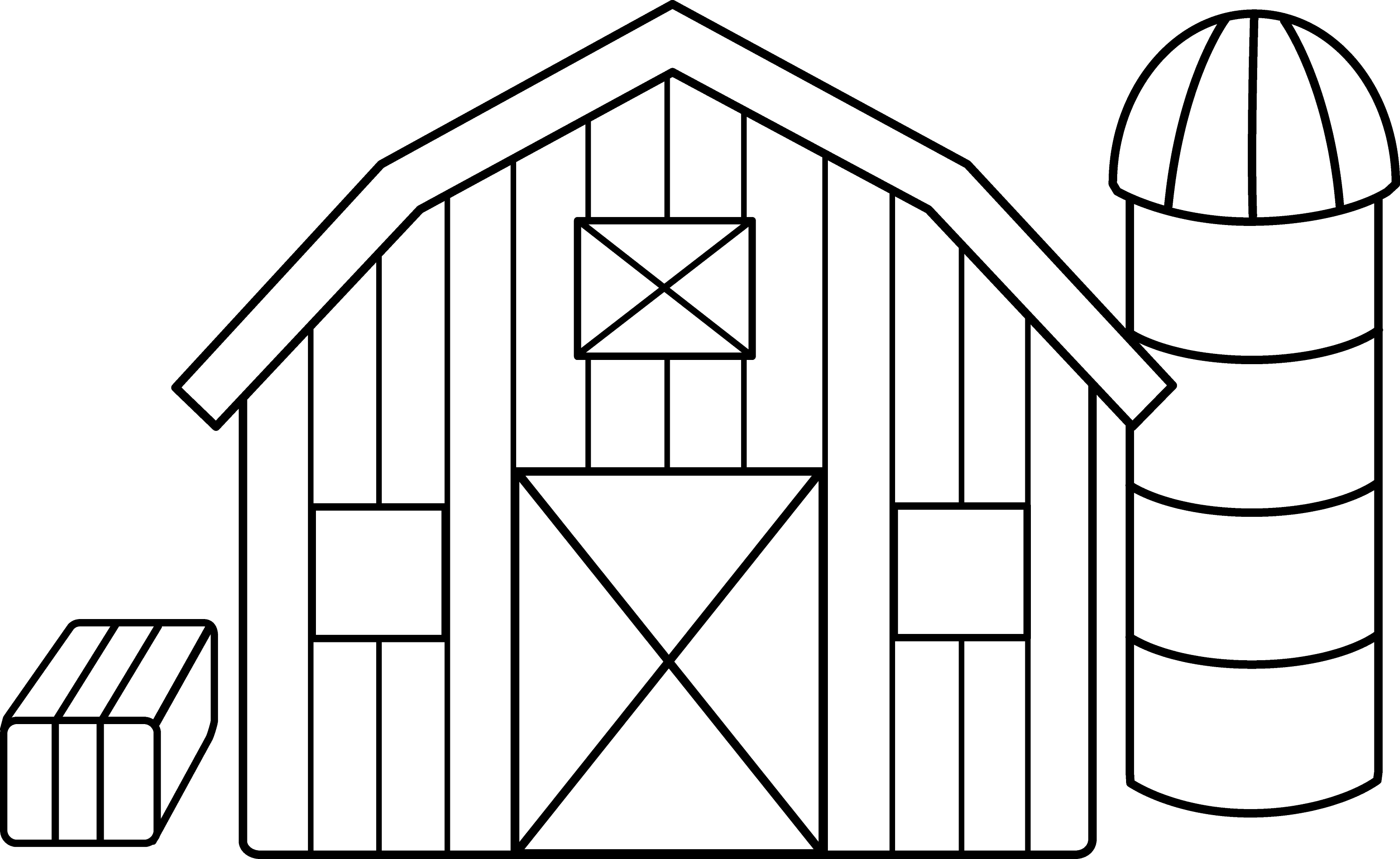 This is a photo of Ridiculous Barn Coloring Sheet