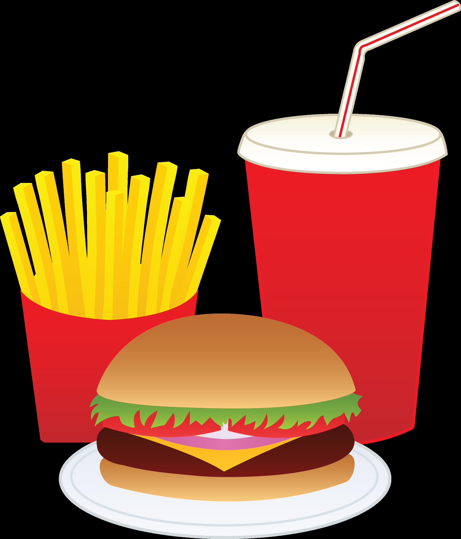 Hamburger Fries And Drink 850
