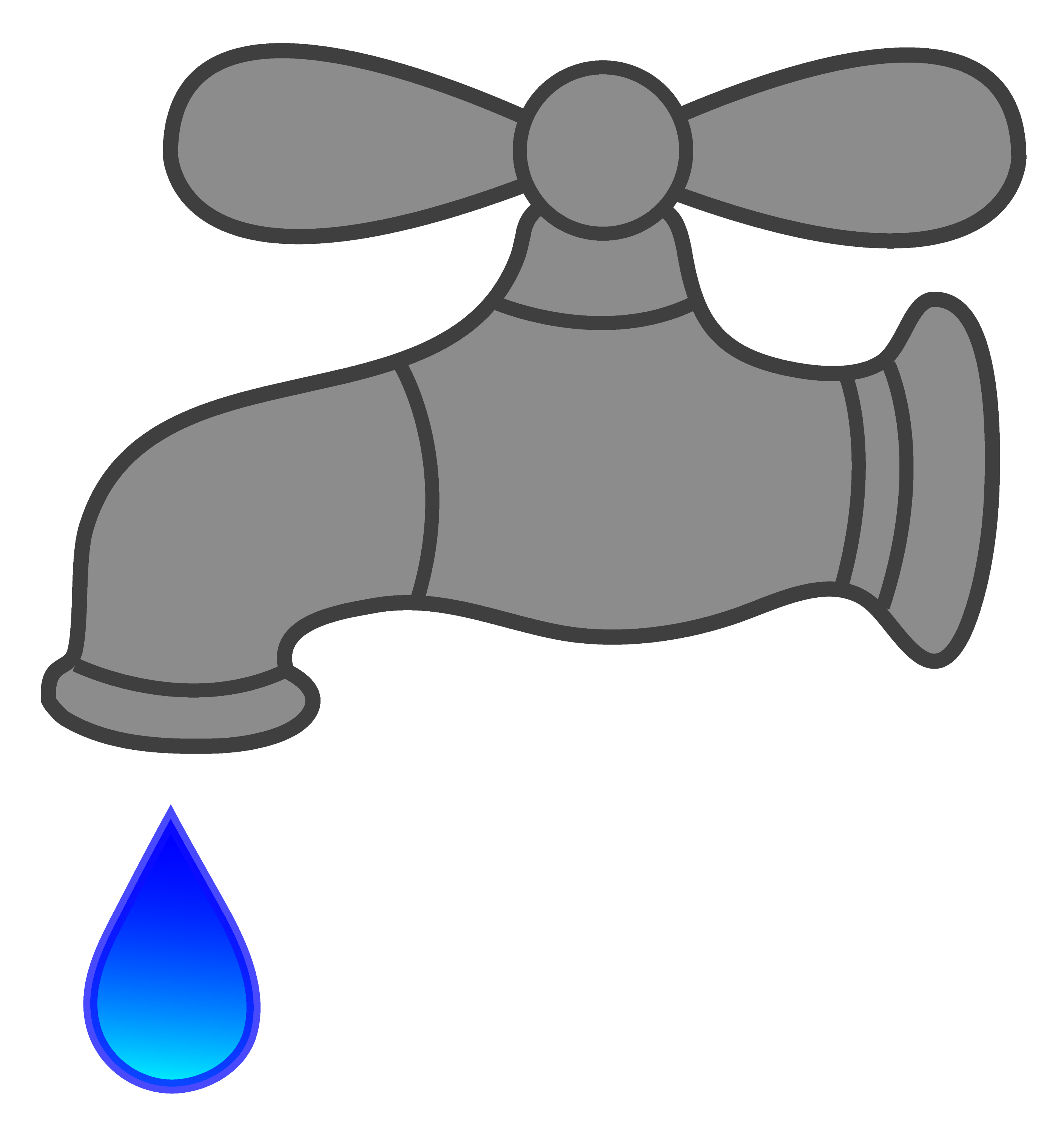 Water Faucet Dripping - Free Clip Art