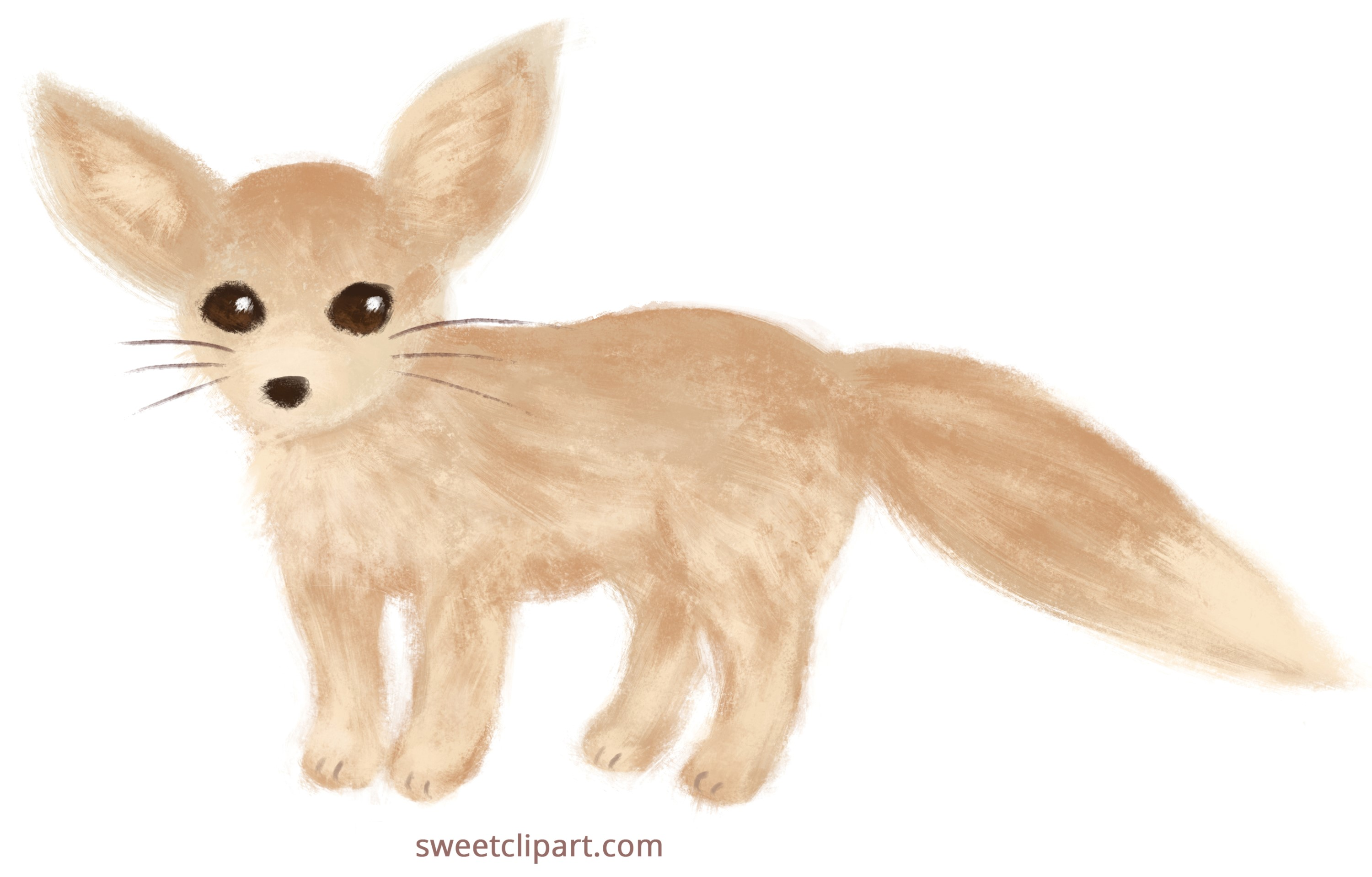 fennec fox painted clip art free clip art
