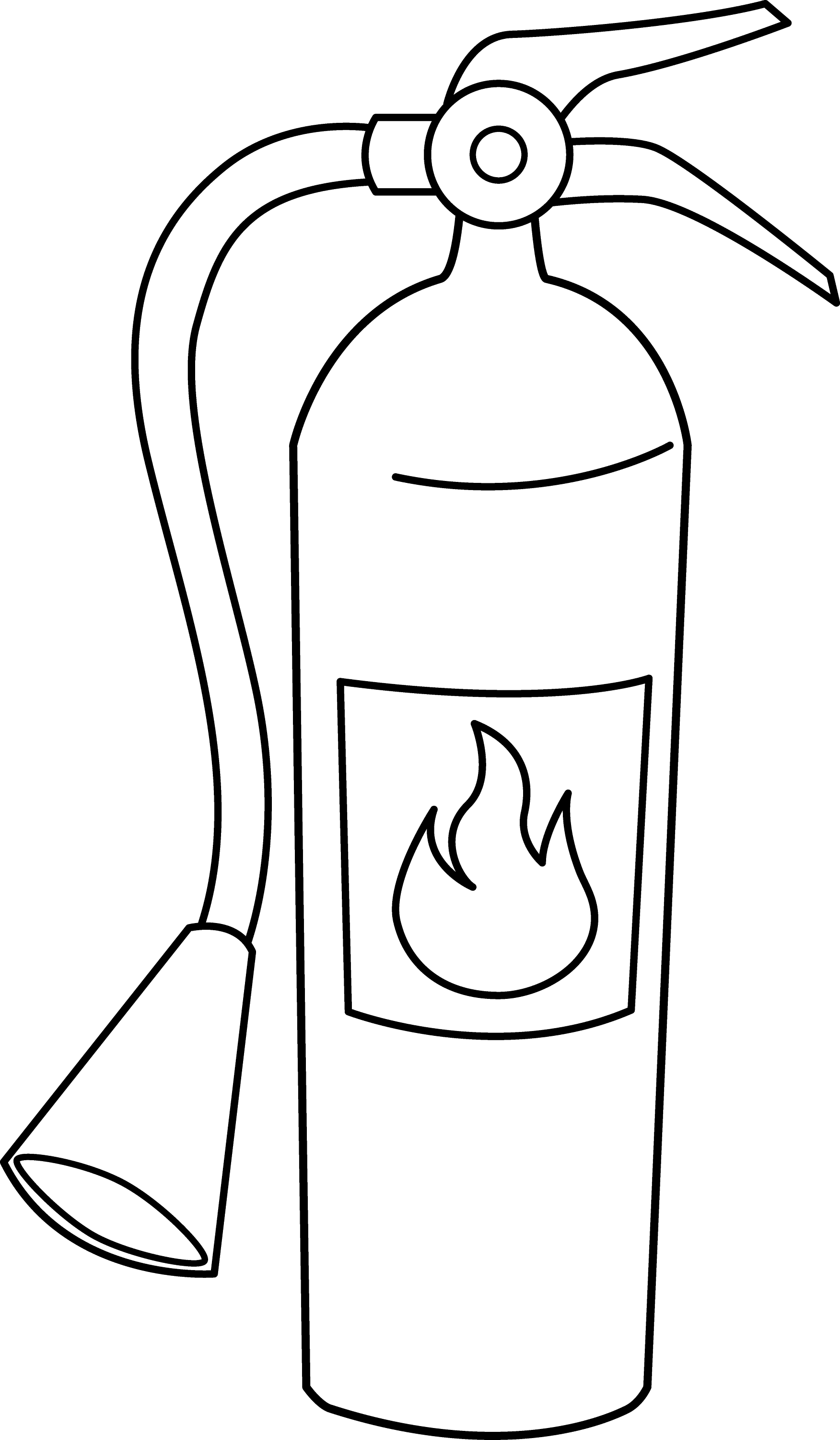 Fire Extinguisher Line Art Free Clip Art Extinguisher Coloring Page