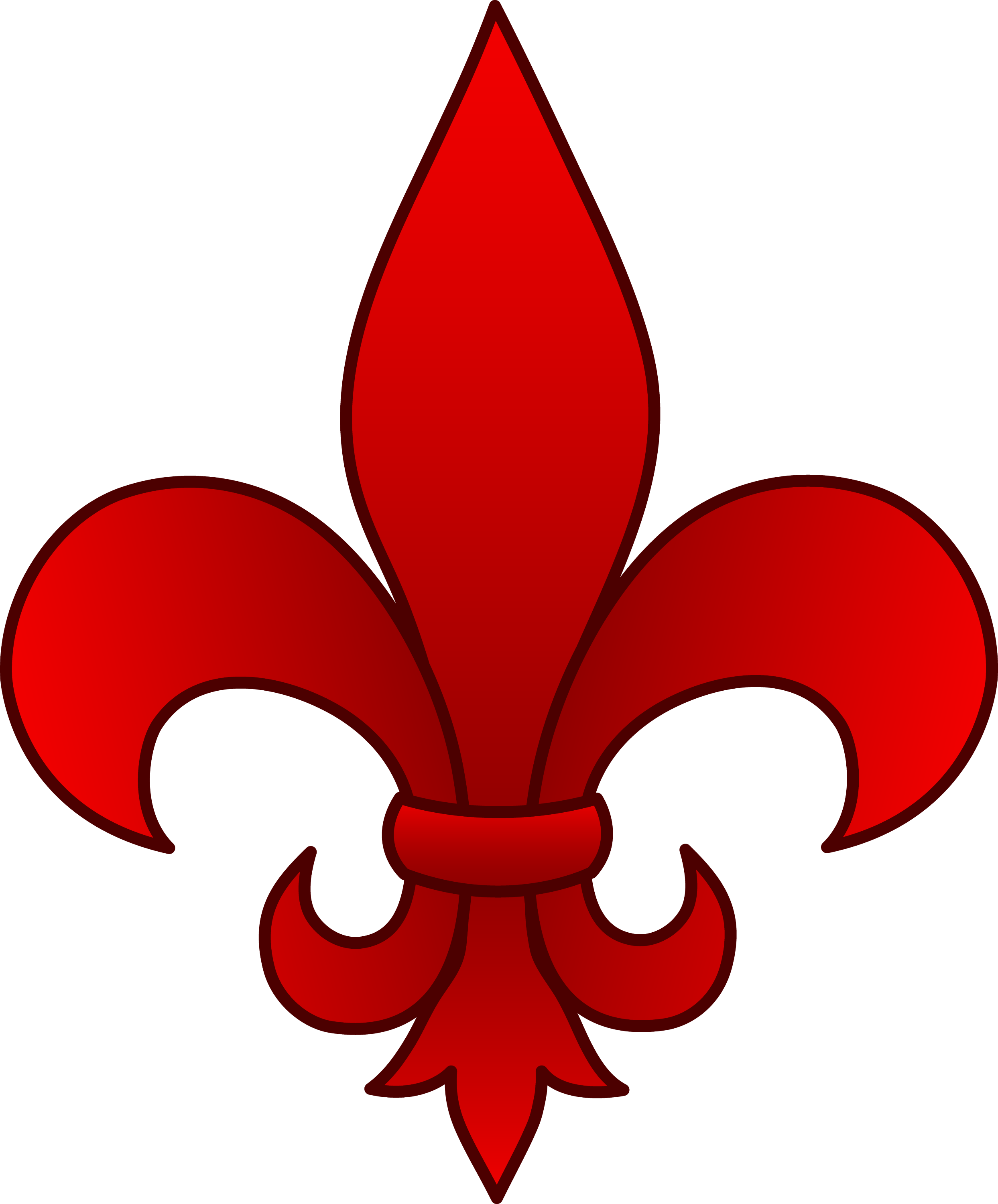 elegant red fleur de lis free clip art. Black Bedroom Furniture Sets. Home Design Ideas