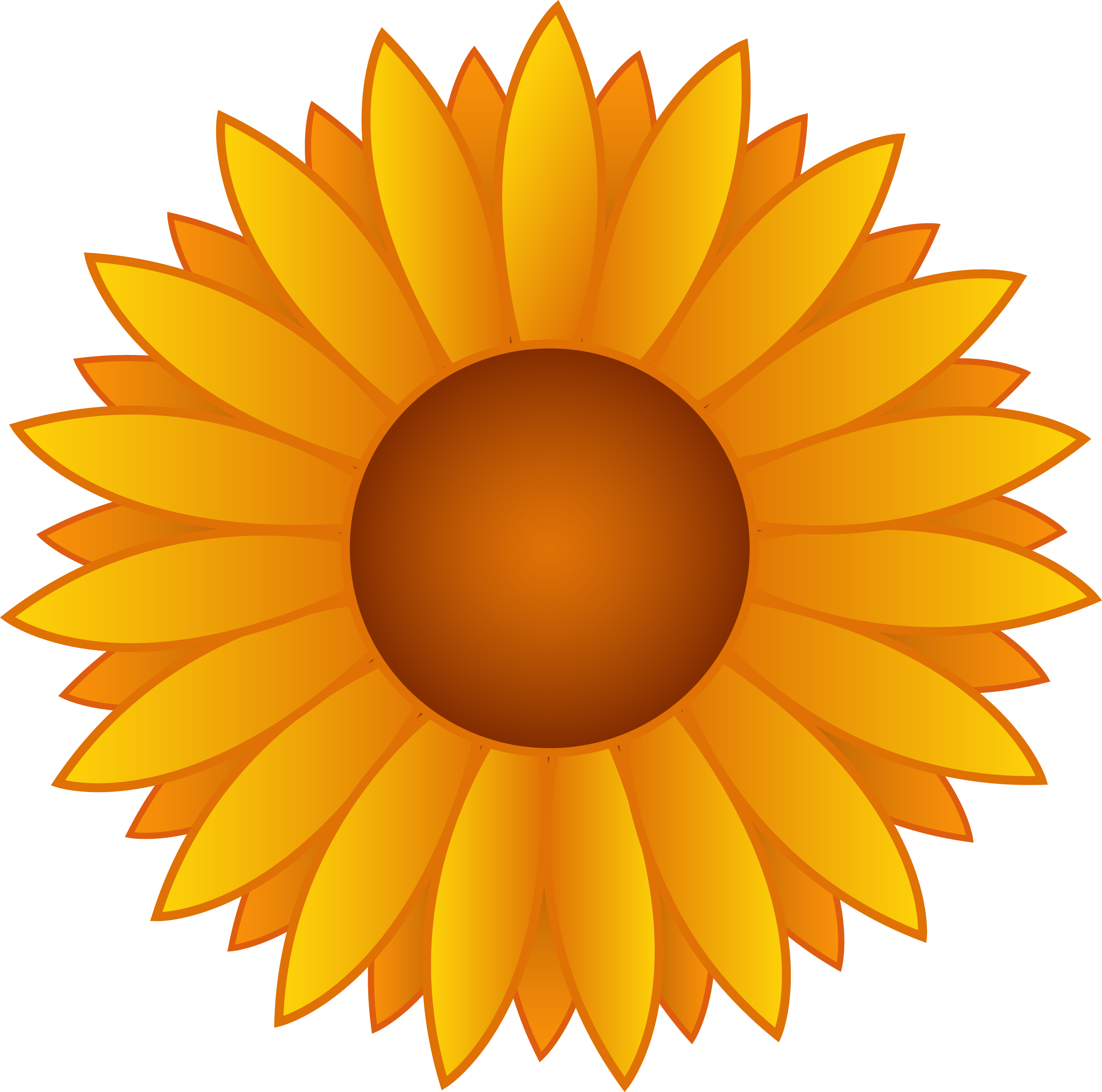 Sunflower vector. Yellow art free clip