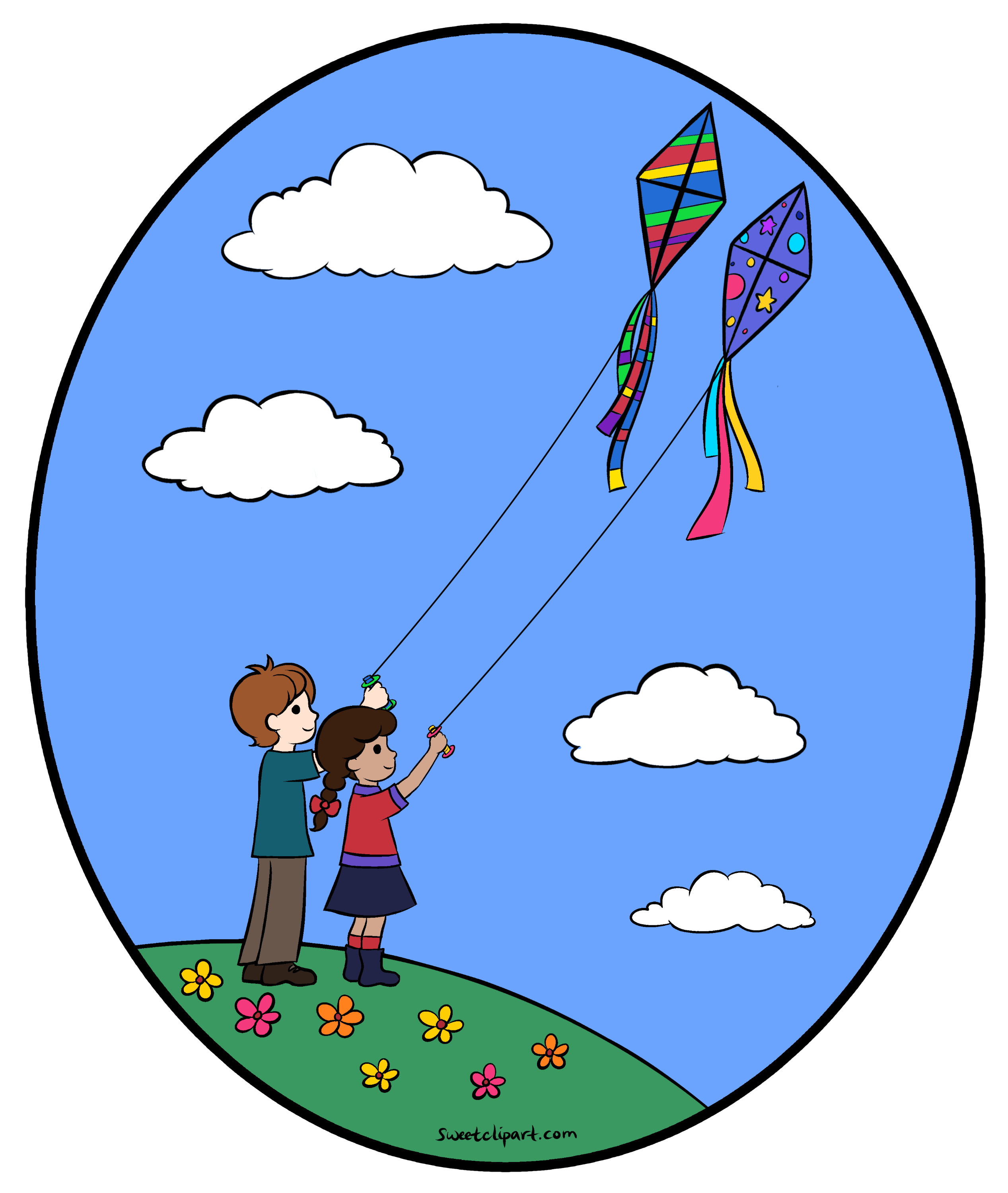 clipart kite flying - photo #7