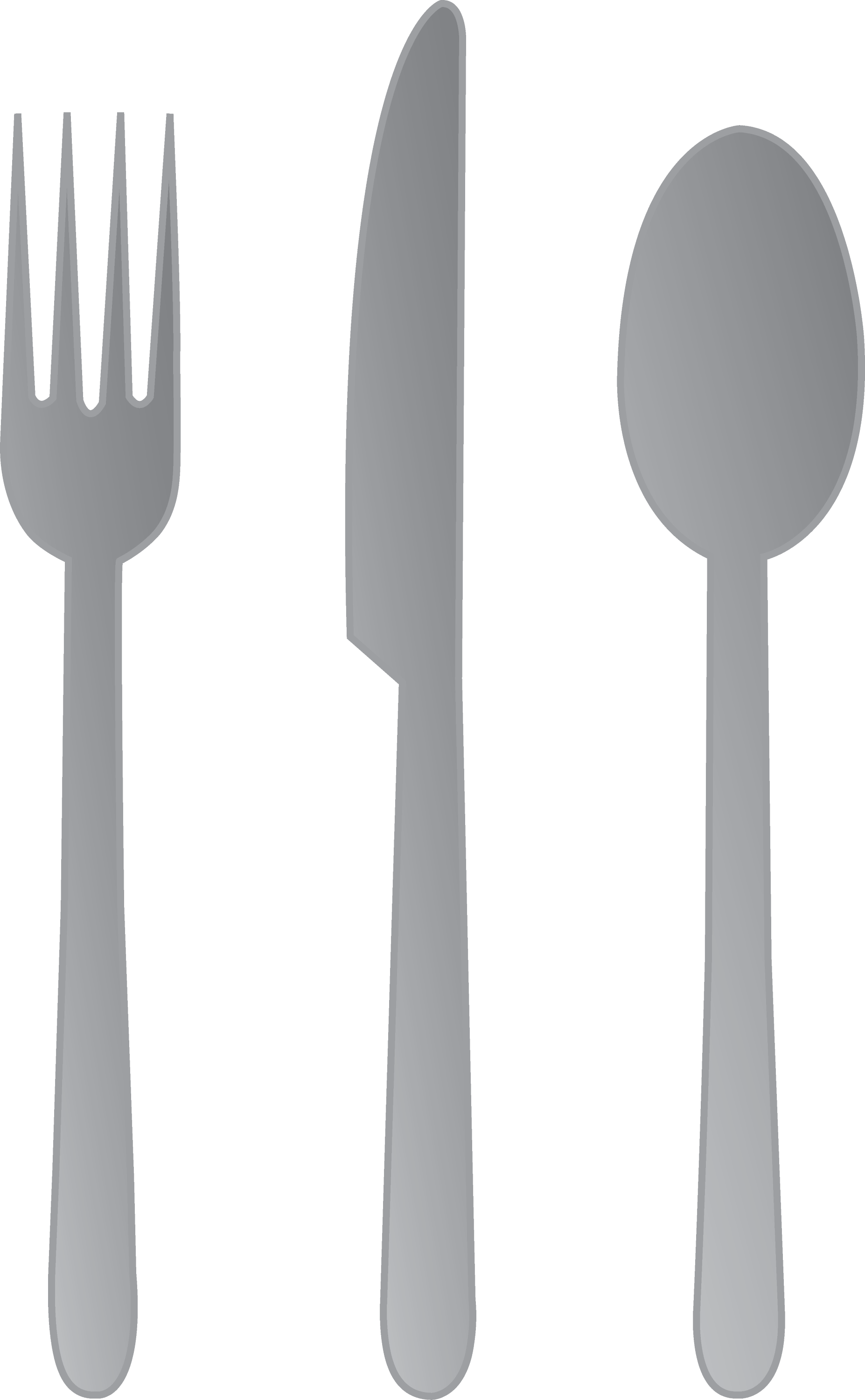 Fork Knife and Spoon - Free Clip Art