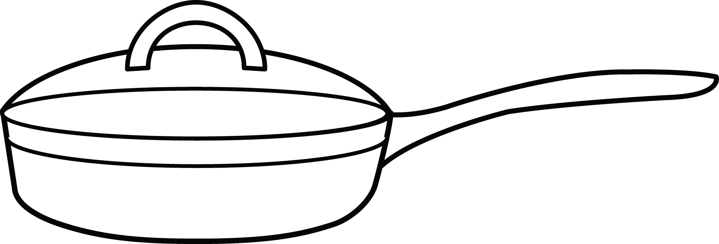 Free coloring pages kitchen utensils - Frying Pan Coloring Page