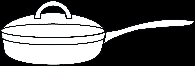 Frying Pan Coloring Page Free Clip Art Pan Coloring Book