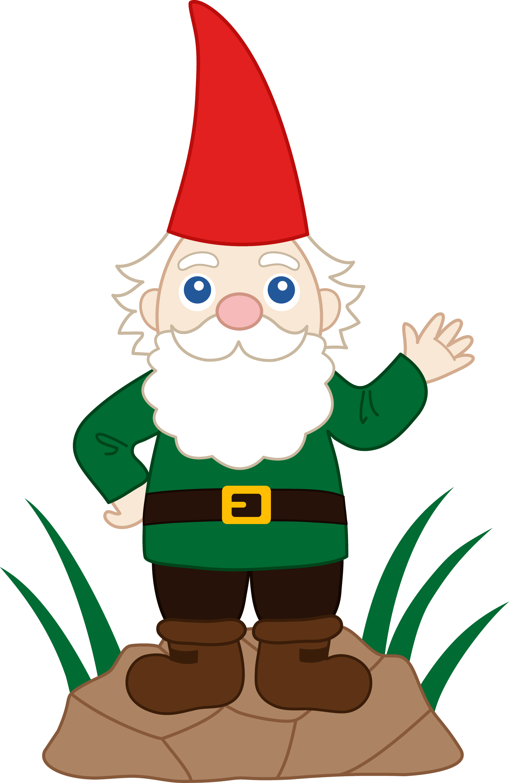 Friendly Garden Gnome - Free Clip Art: sweetclipart.com/friendly-garden-gnome-1464