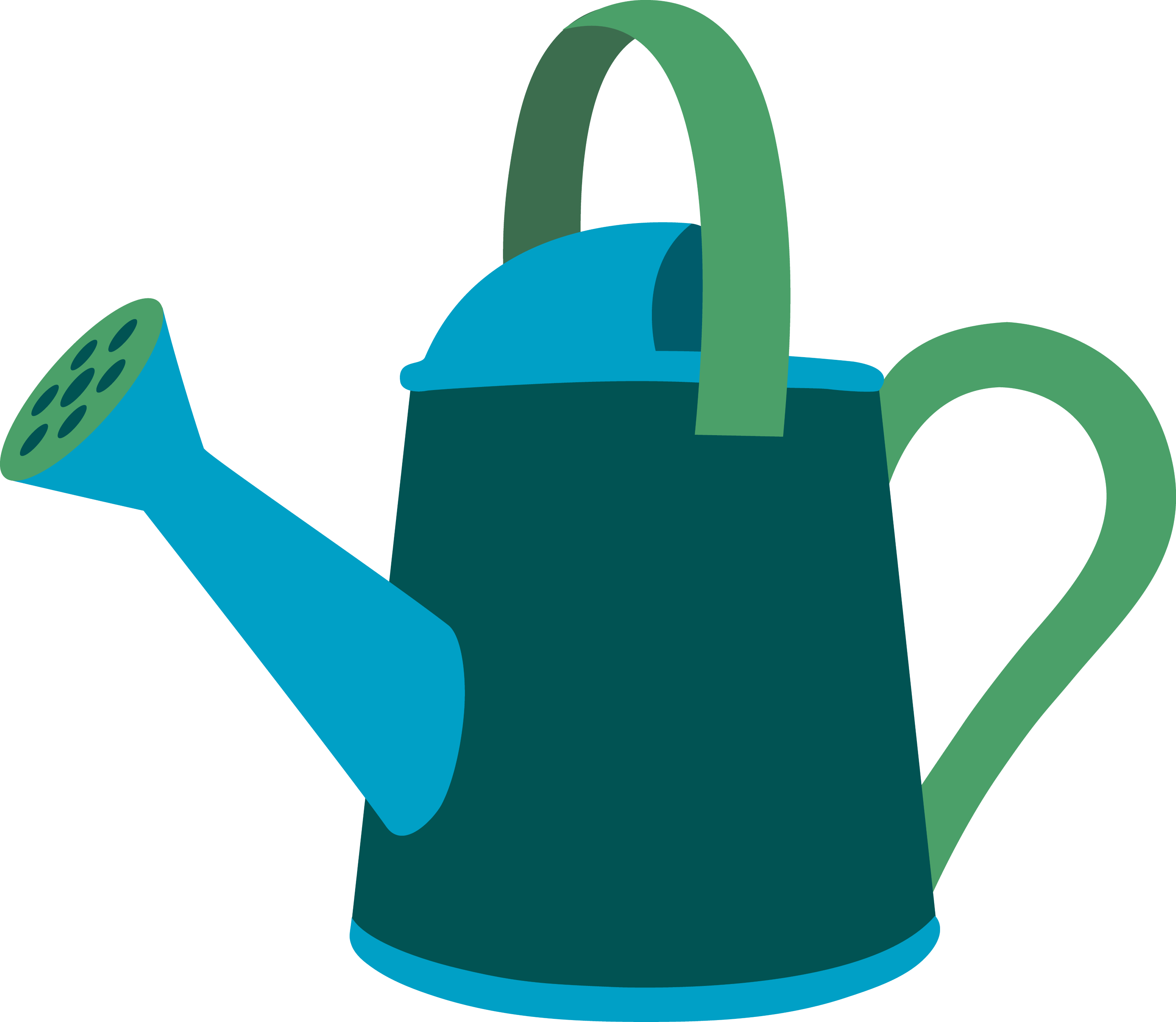 Garden Watering Can Design - Free Clip Art
