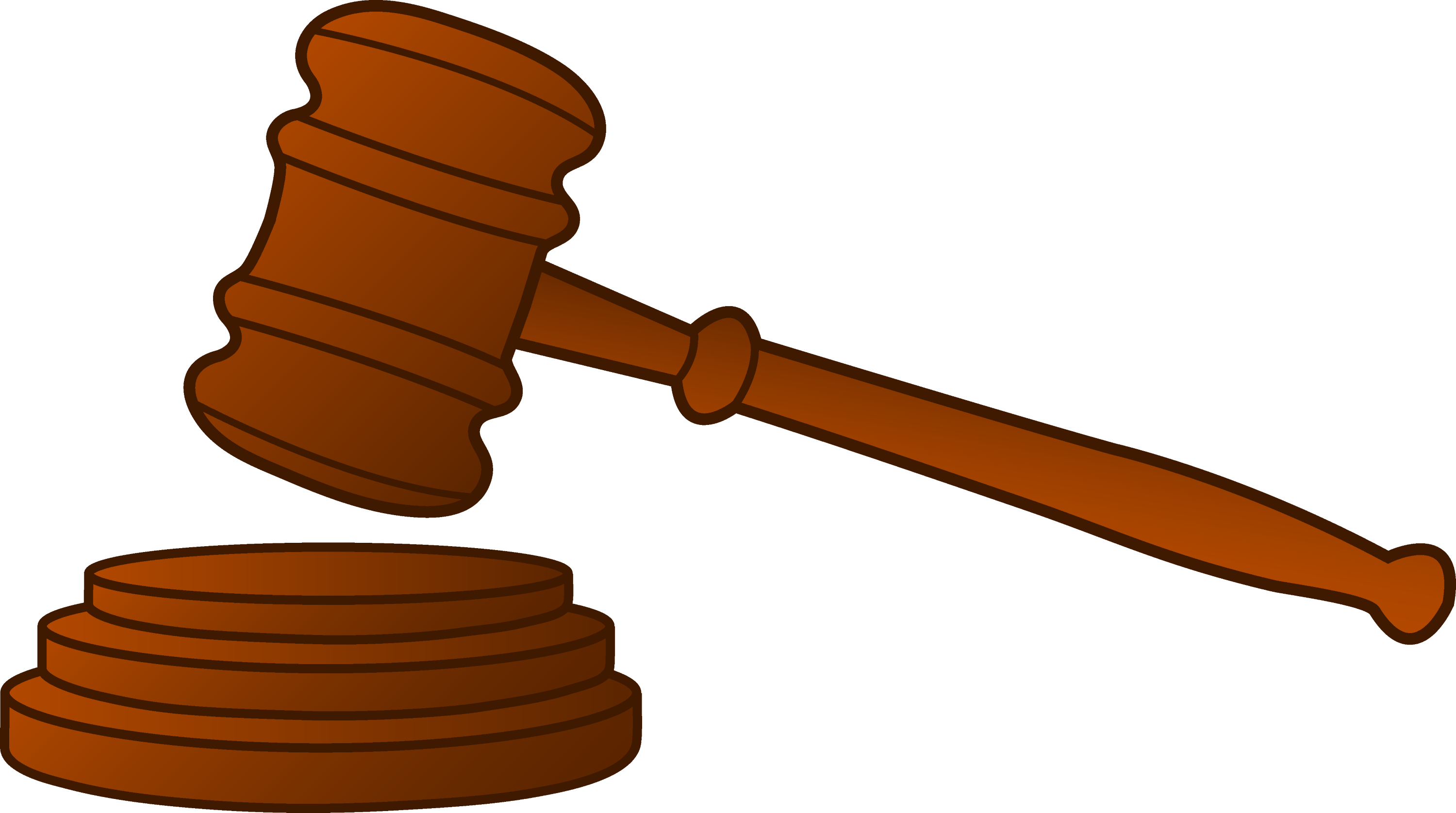 Wooden Court Gavel Free Clip Art