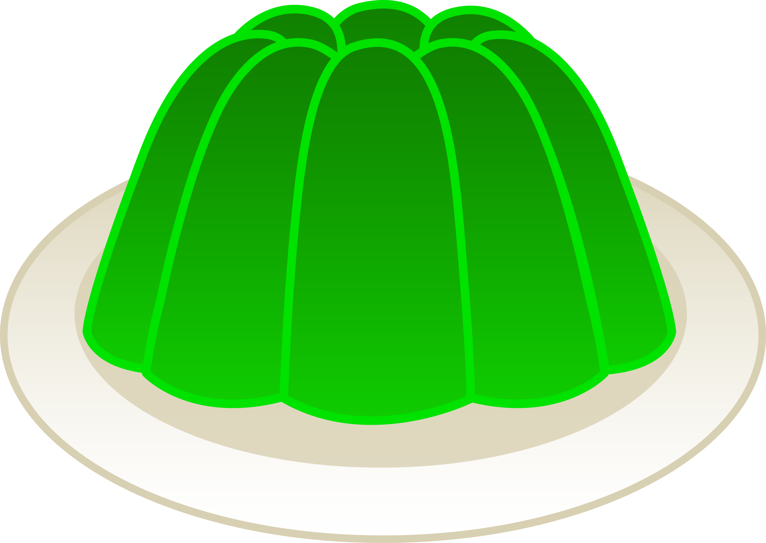 Lime Green Gelatin Mold - Free Clip Art