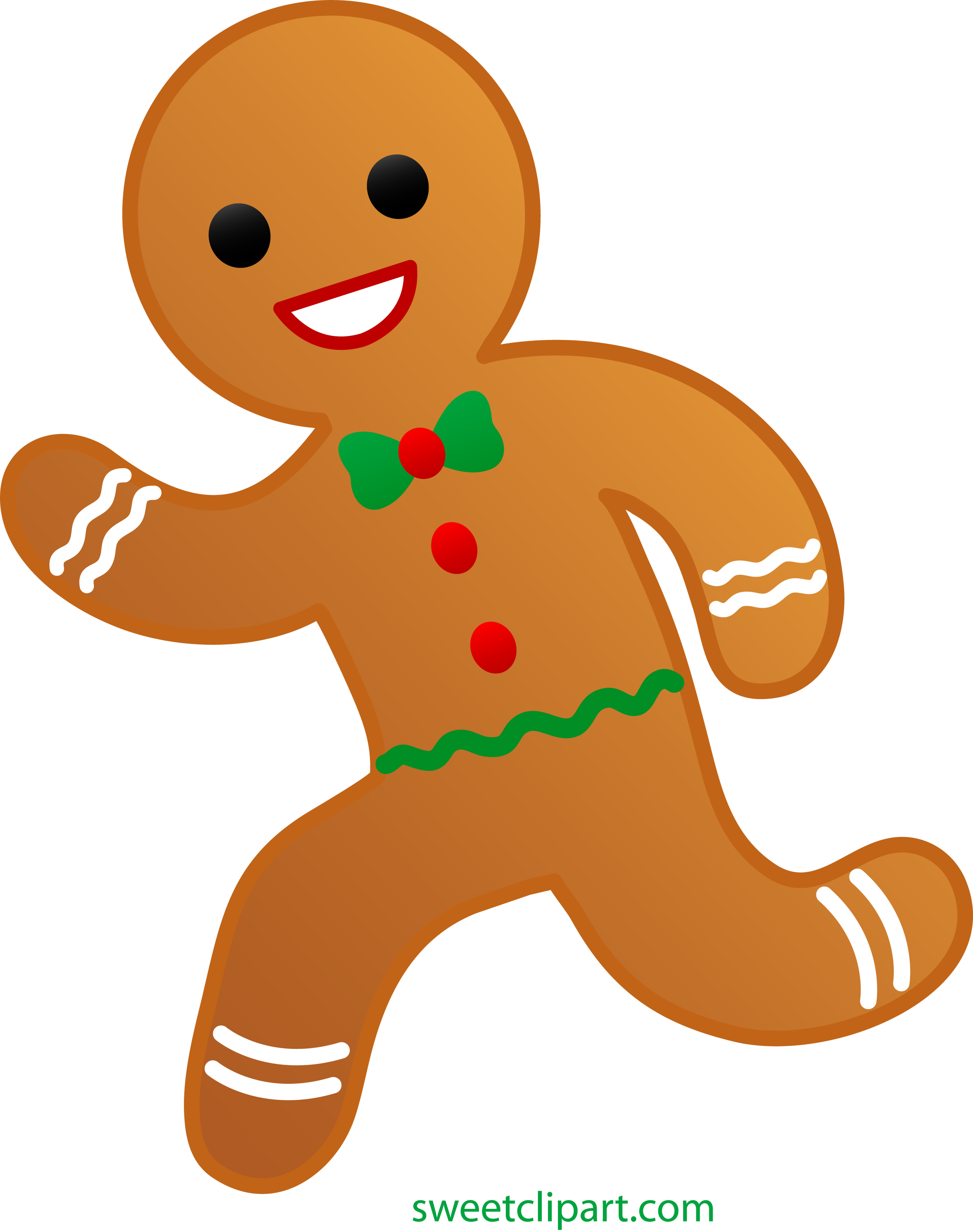 gingerbread man running away free clip art rh sweetclipart com free clipart gingerbread girl free christmas clipart gingerbread man