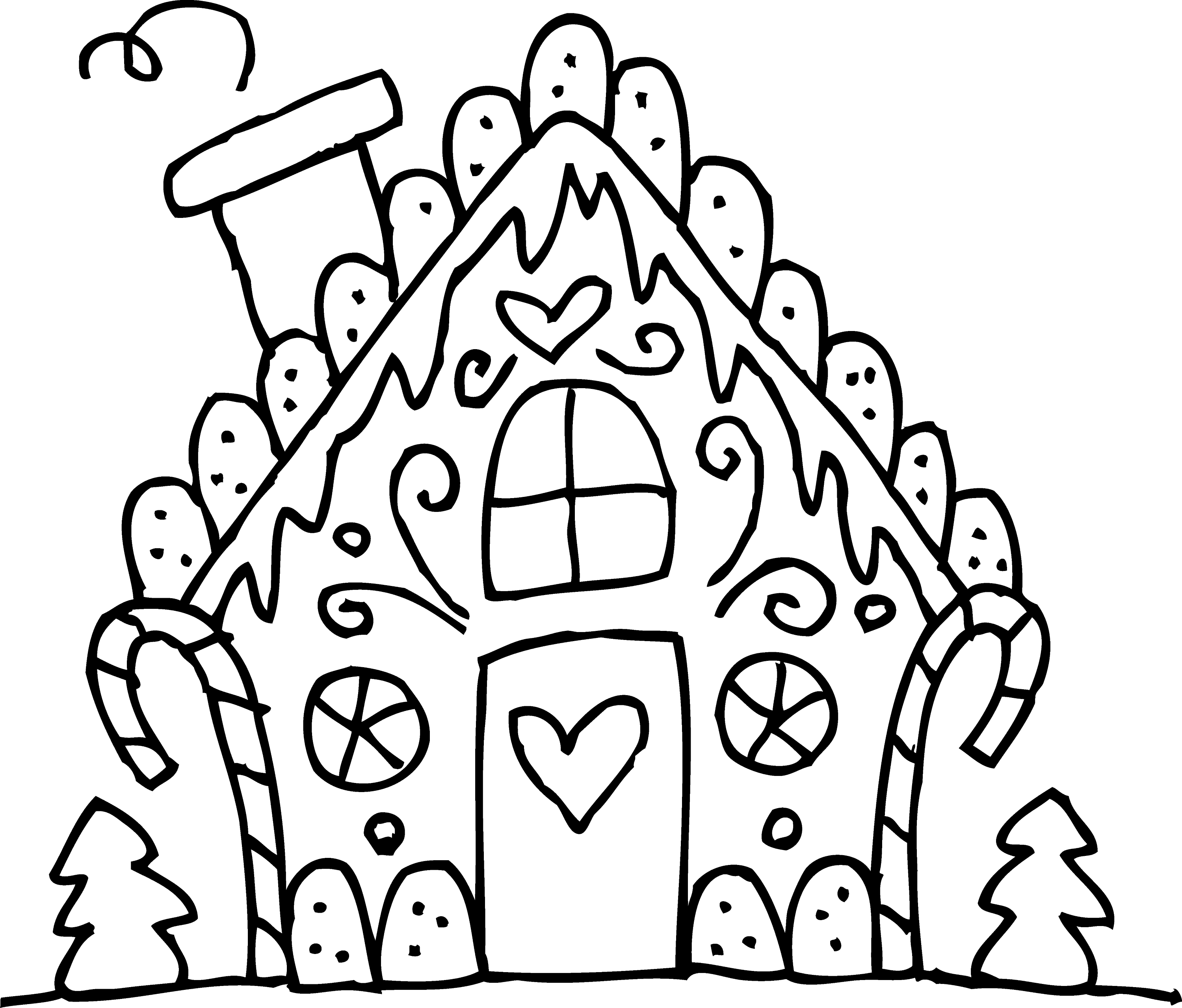 gingerbread house candy coloring pages - photo#18