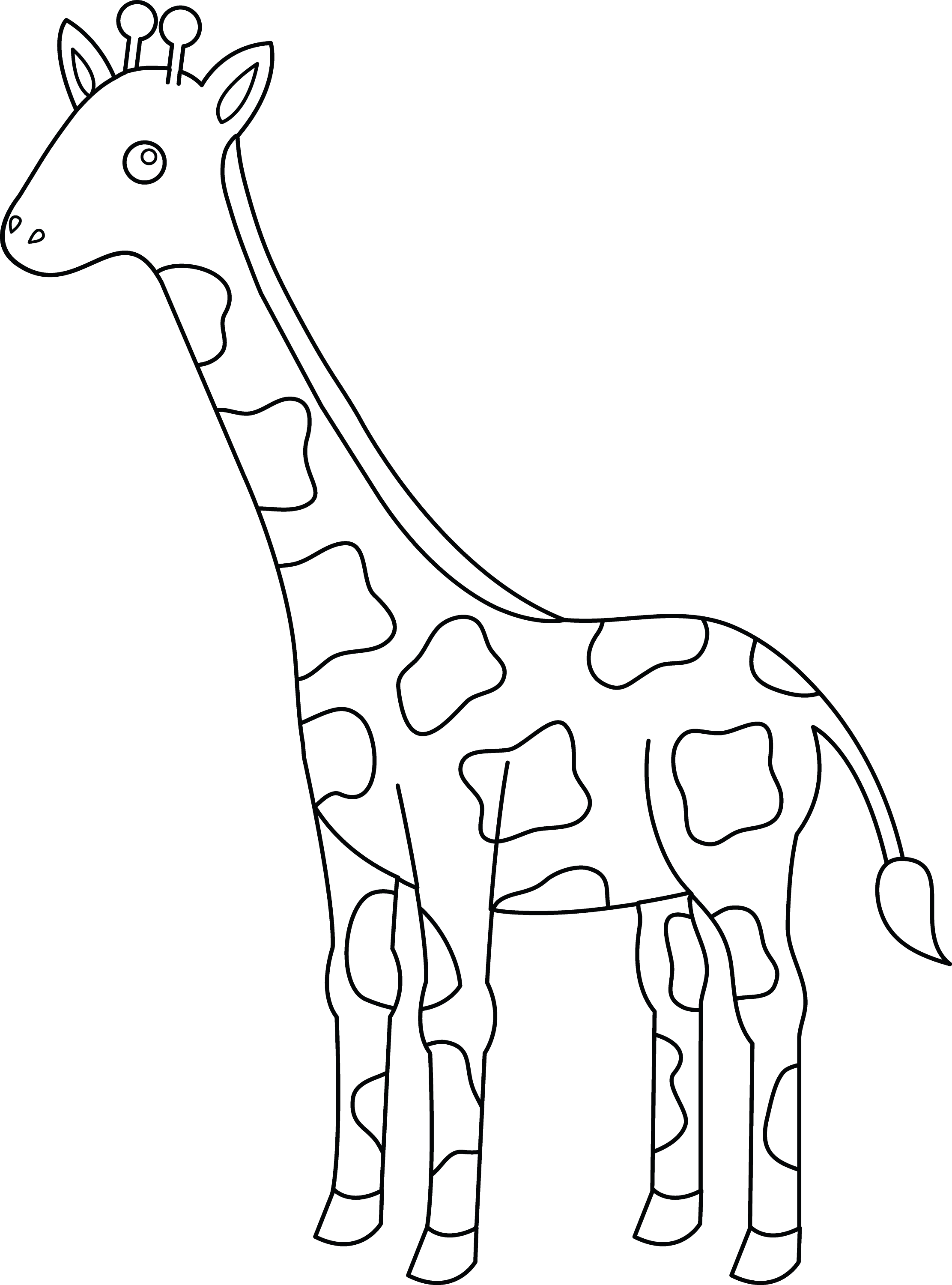 Line Art Giraffe : Free coloring pages of giraffe outline