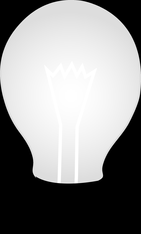 White Glass Idea Light Bulb - Free Clip Art