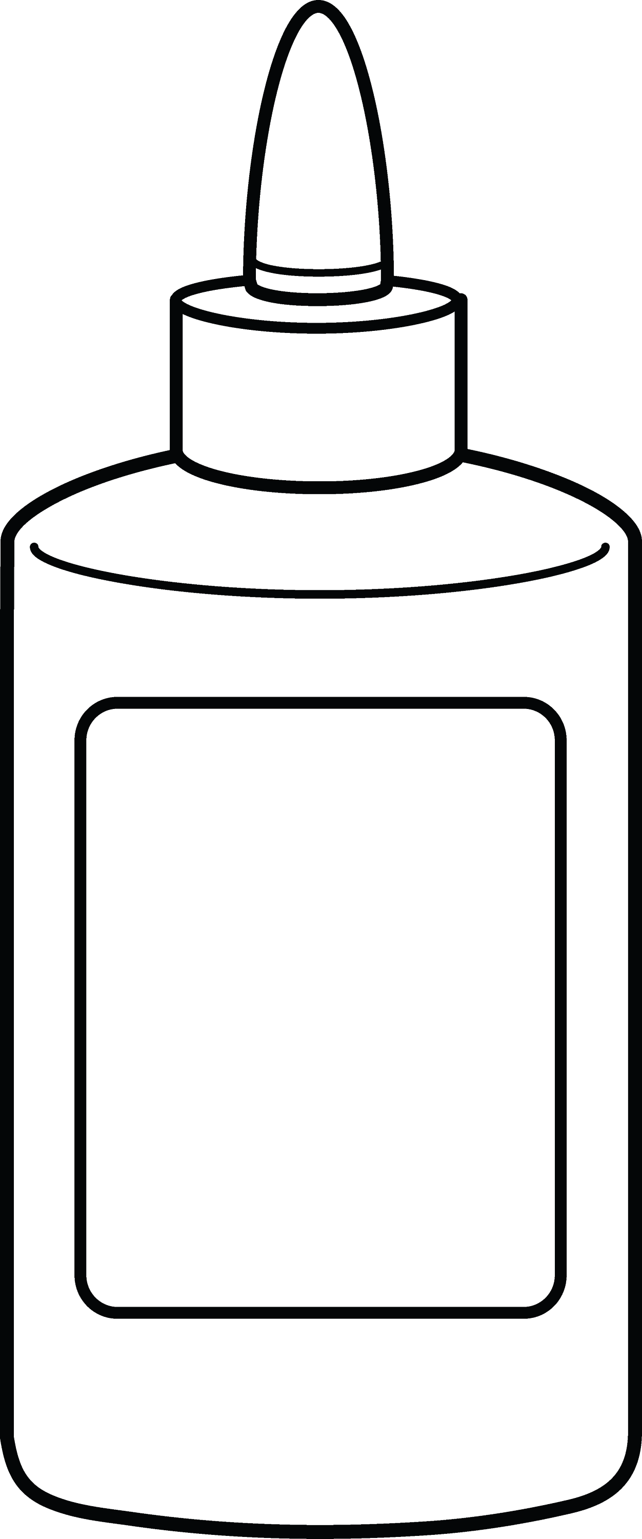 glue bottle coloring pages - photo#2