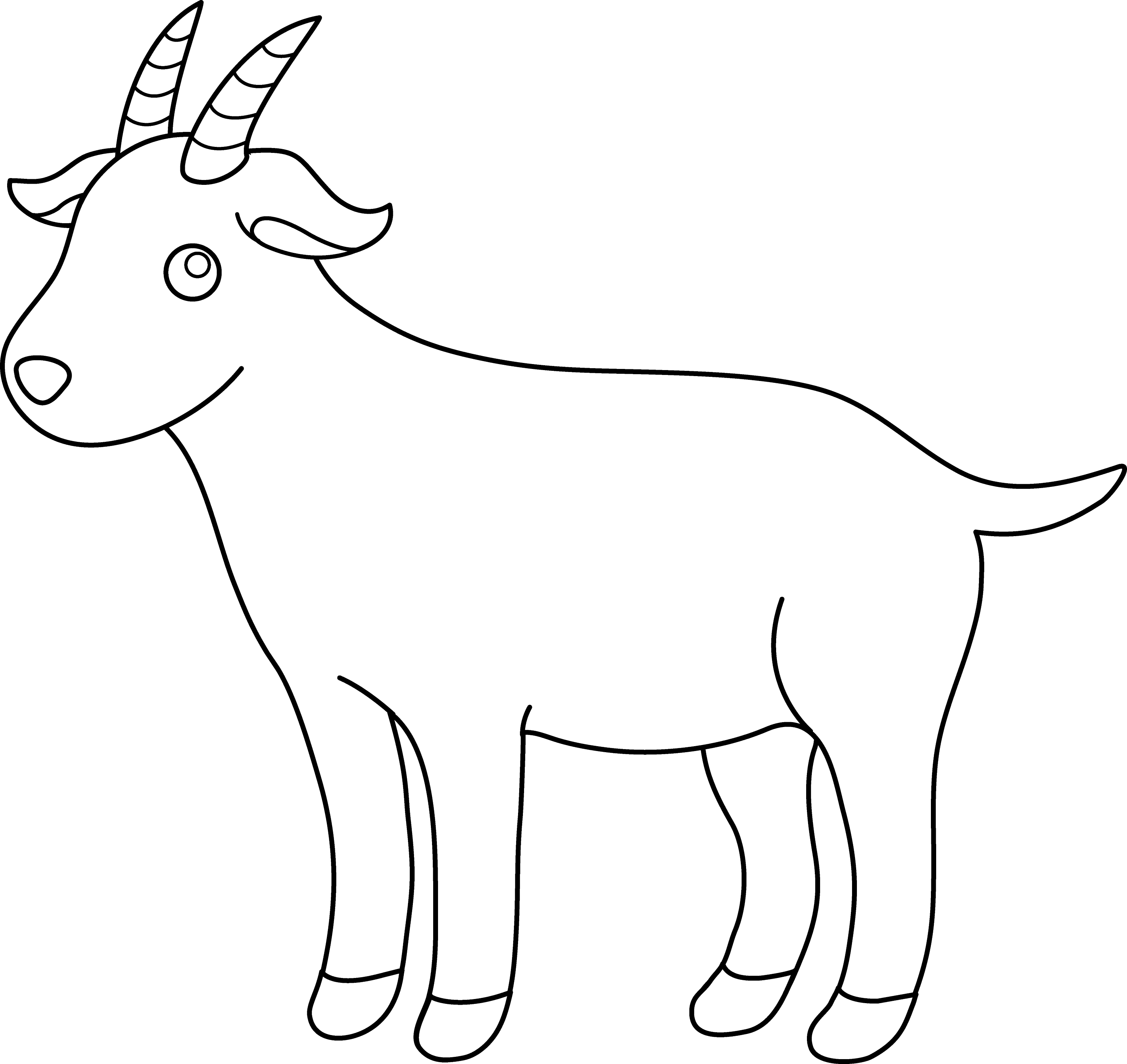 cute colorable billy goat free clip art. Black Bedroom Furniture Sets. Home Design Ideas