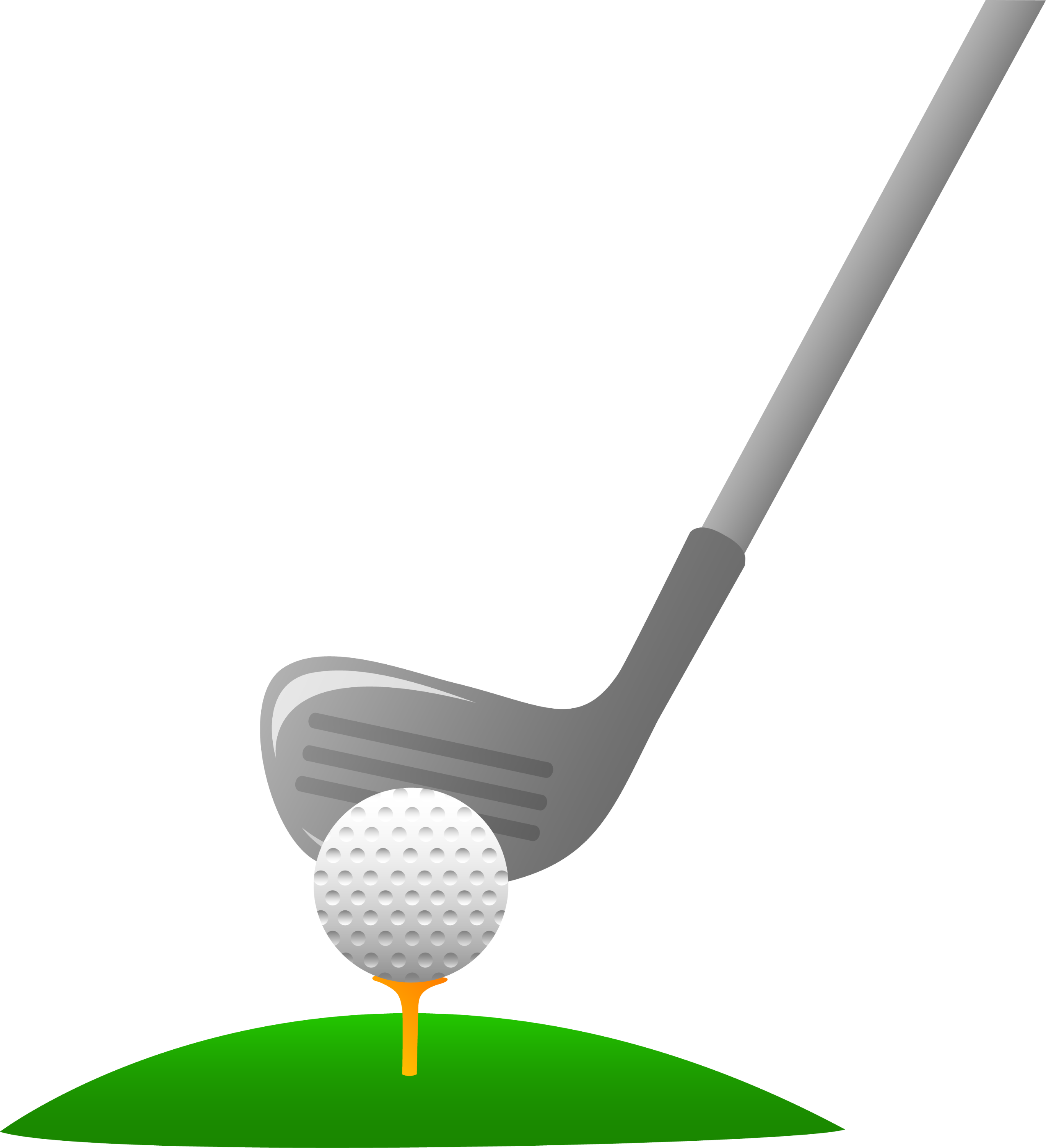 Closeup of Golf Ball and Club - Free Clip Art