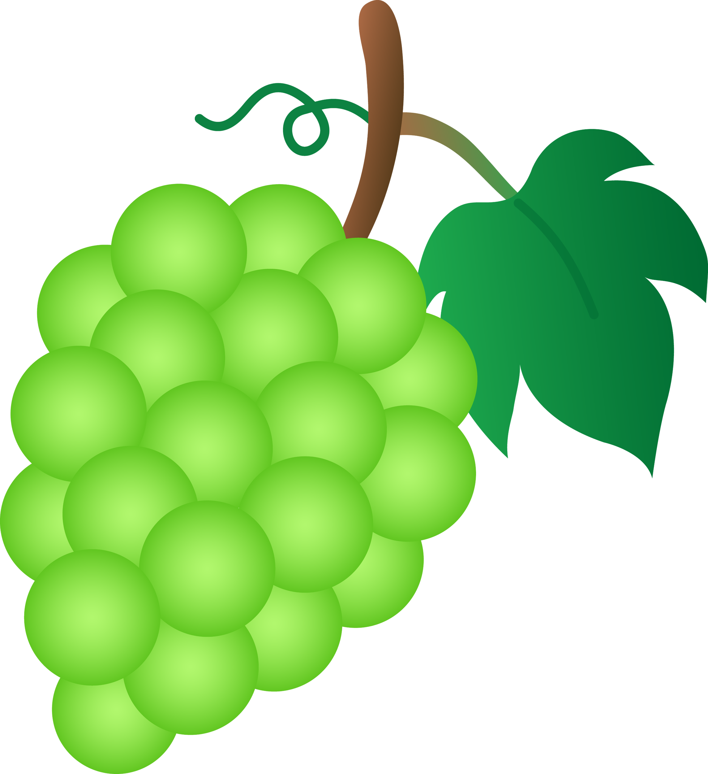 Bunch of Green Grapes - Free Clip Art