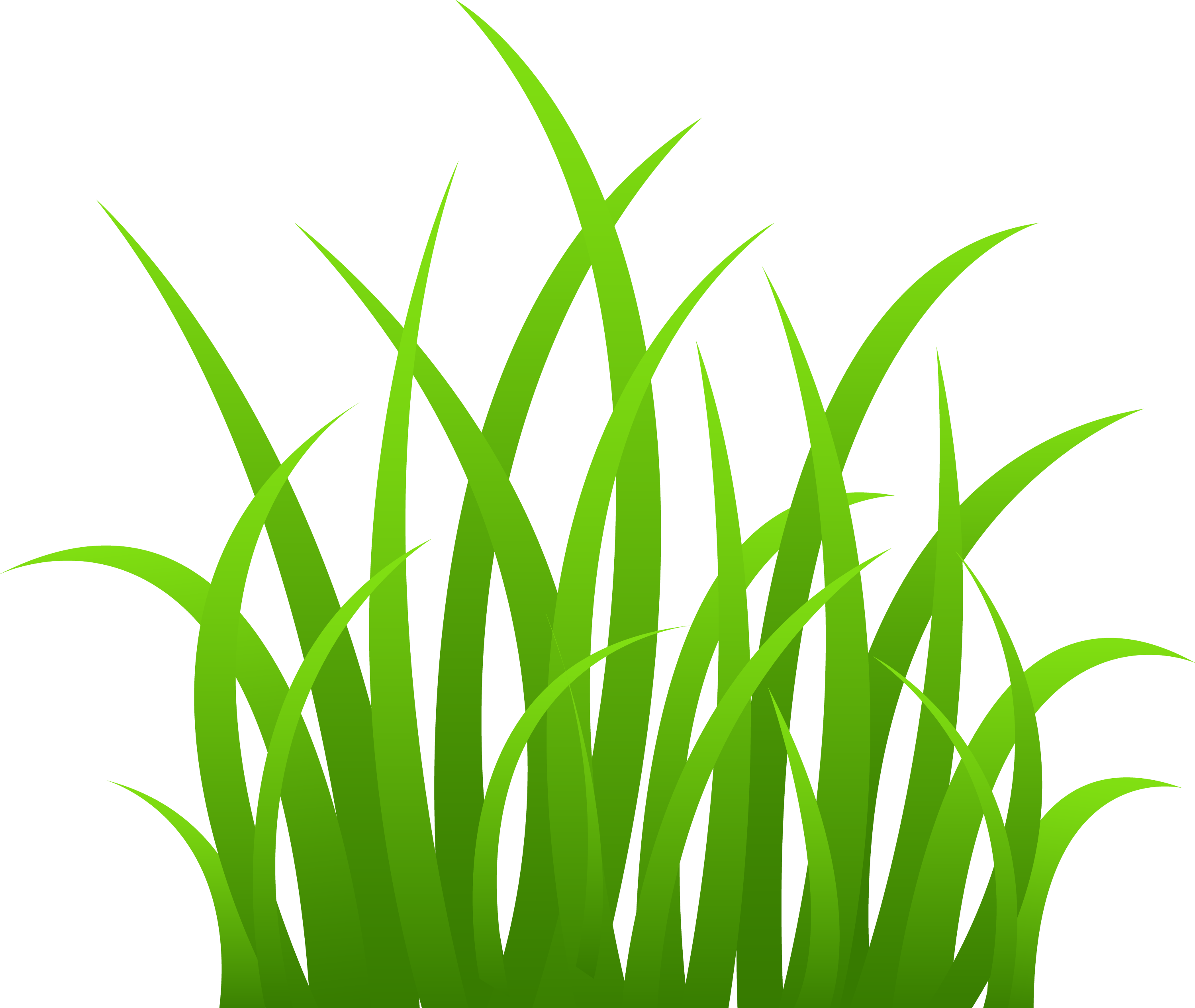 Strands of Green Grass  Free Clip Art