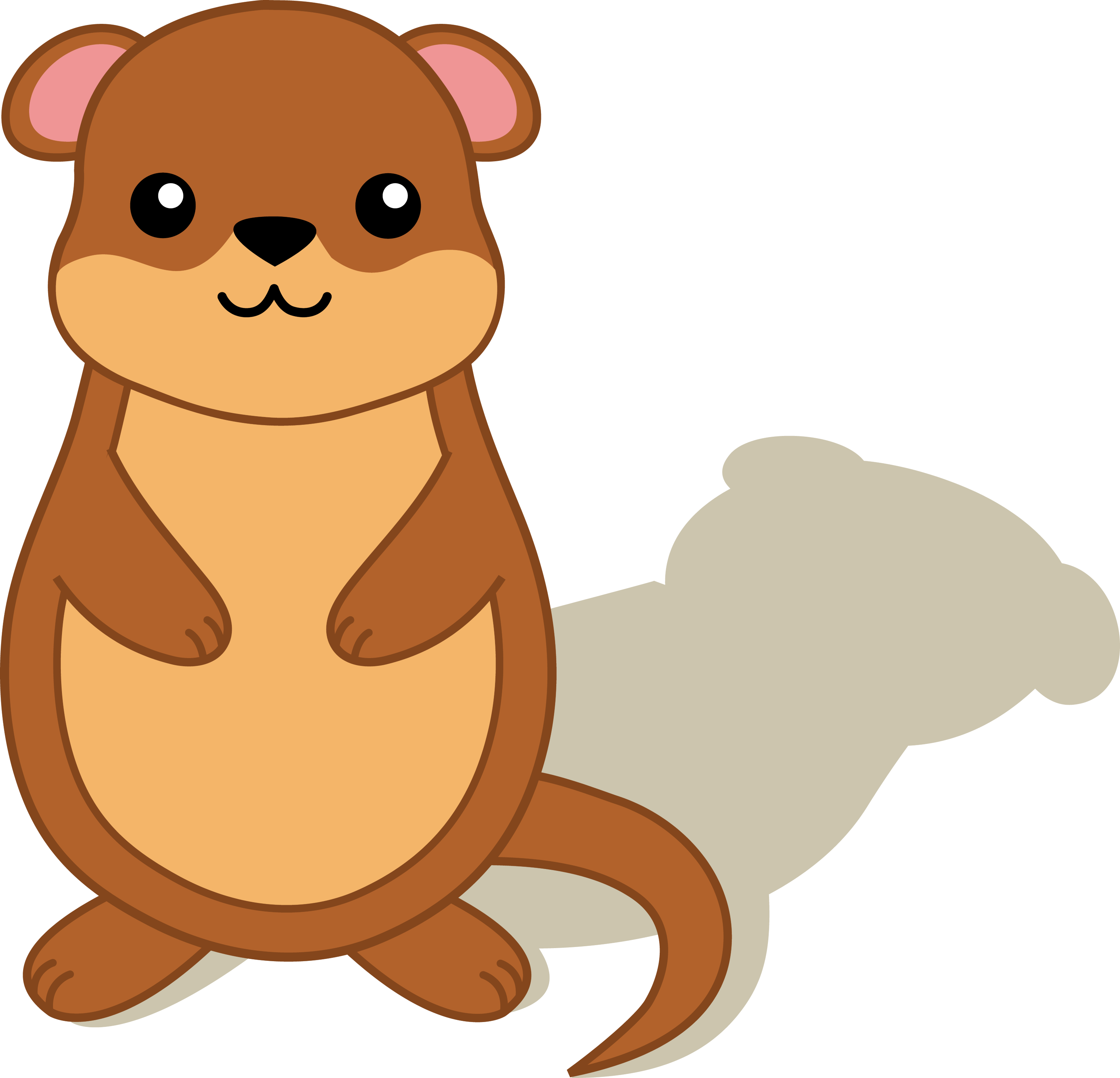 groundhog with shadow free clip art rh sweetclipart com groundhog day clipart groundhog day clipart