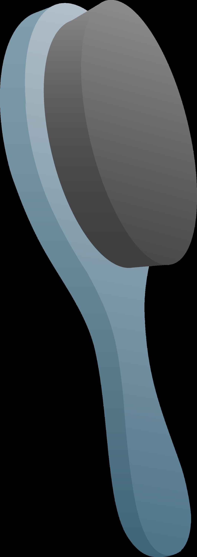 Hair Brush Clip Art ~ Blue soft hair brush free clip art