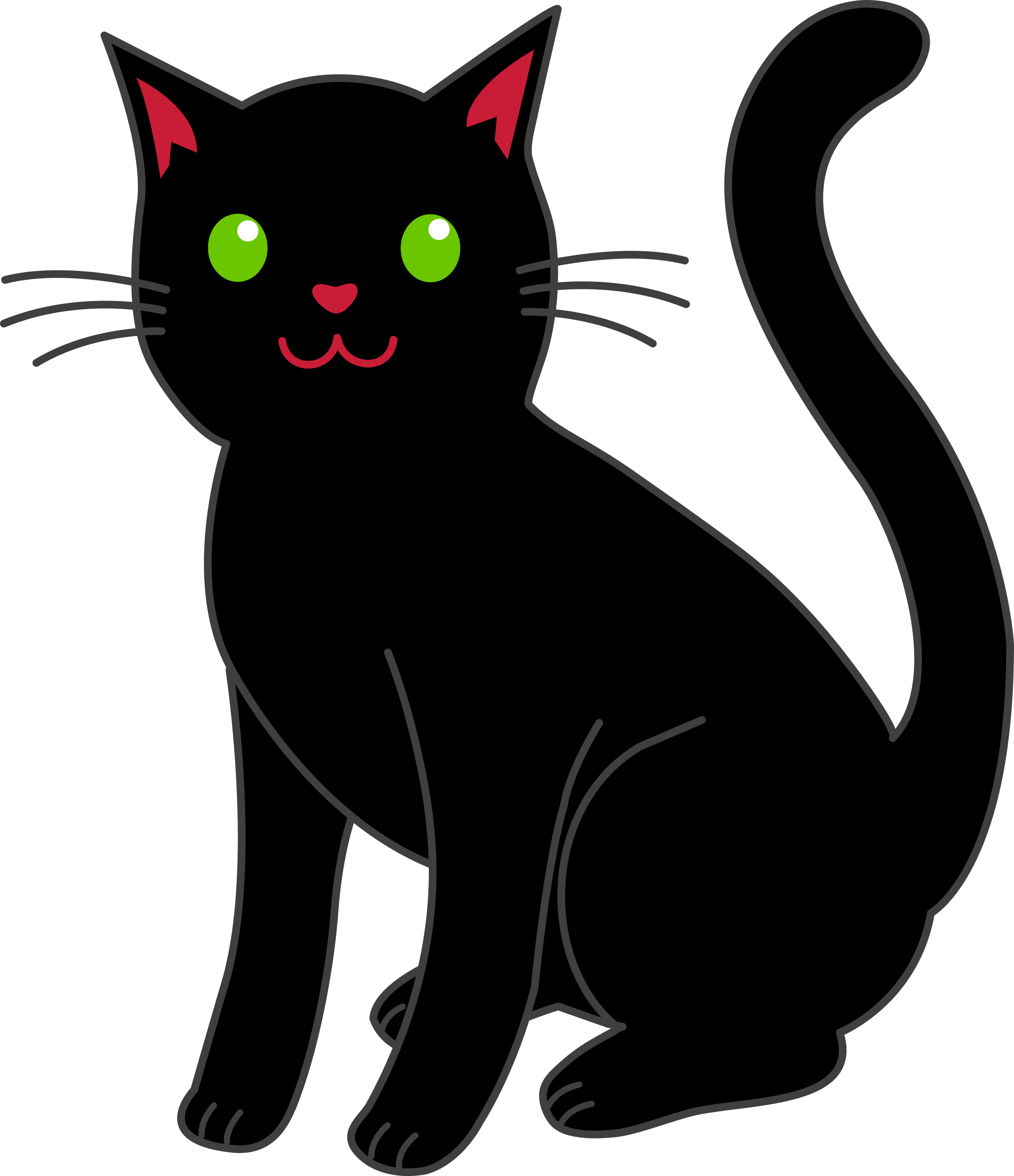 simple black halloween cat free clip art rh sweetclipart com clip art cats images clip art castle