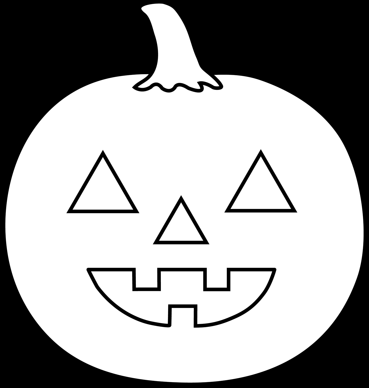 Halloween Jack O Lantern For Coloring - Free Clip Art