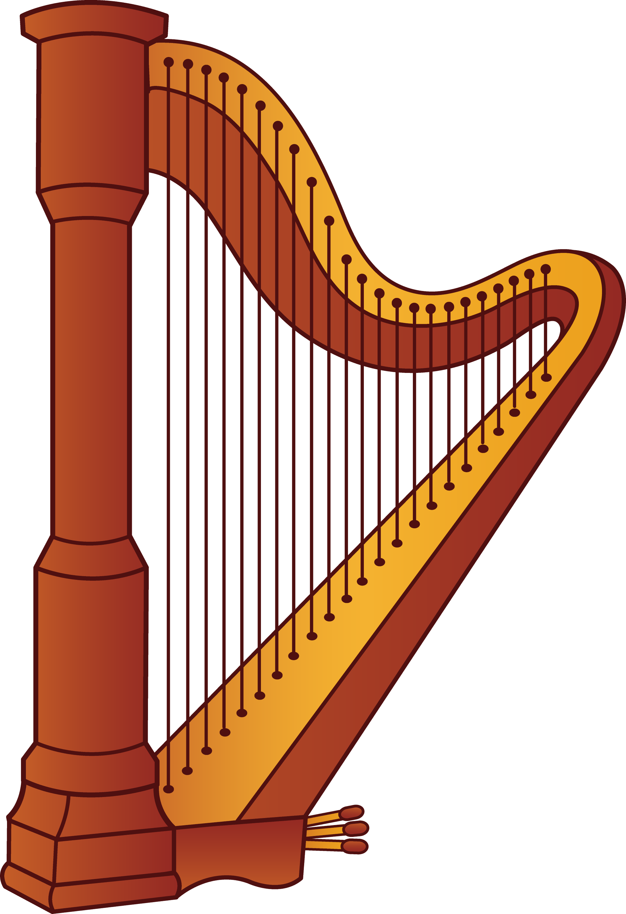 Harp Musical Instrument - Free Clip Art