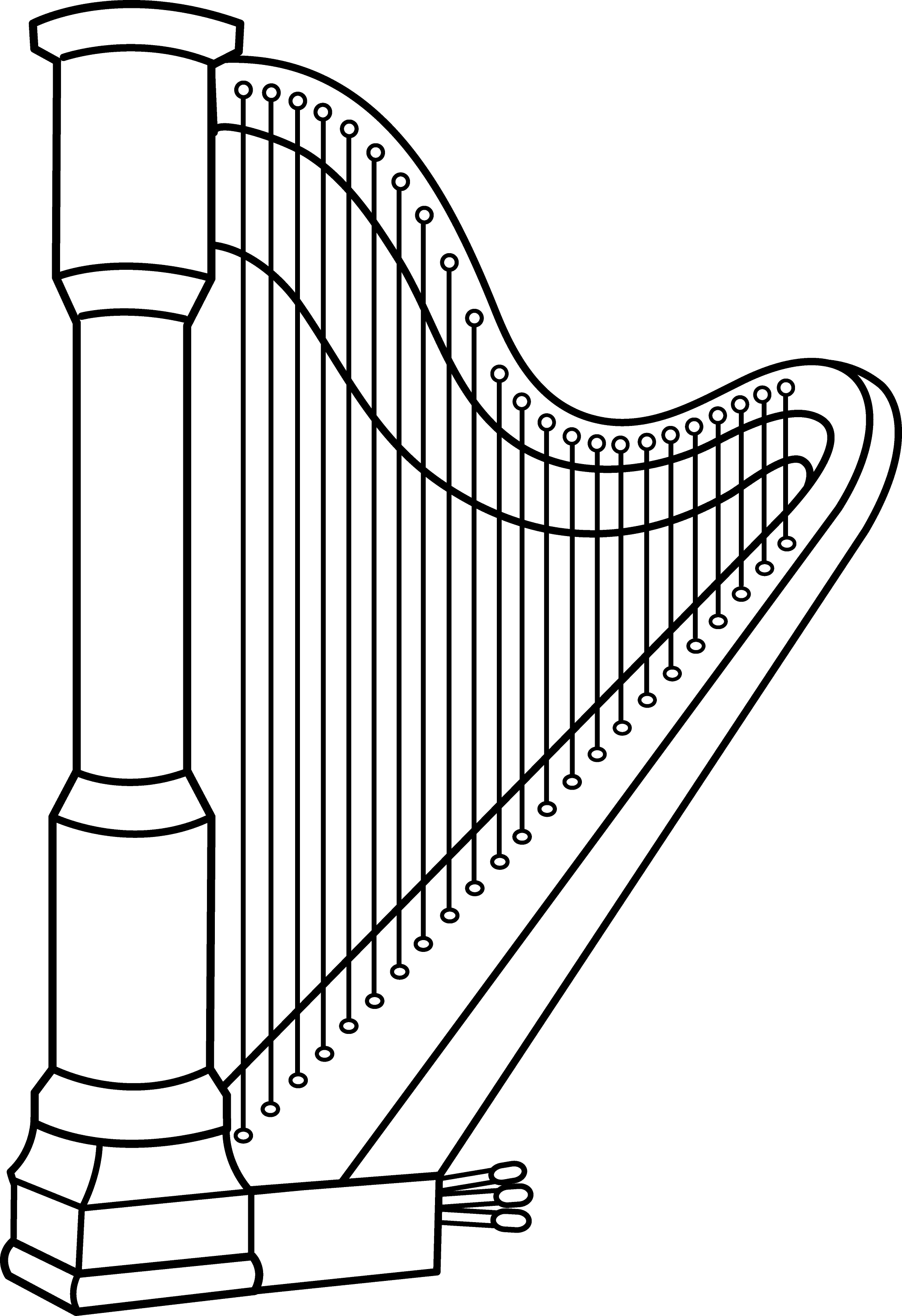 musical harp line art free clip art rh sweetclipart com golden harp clipart harp clipart black and white