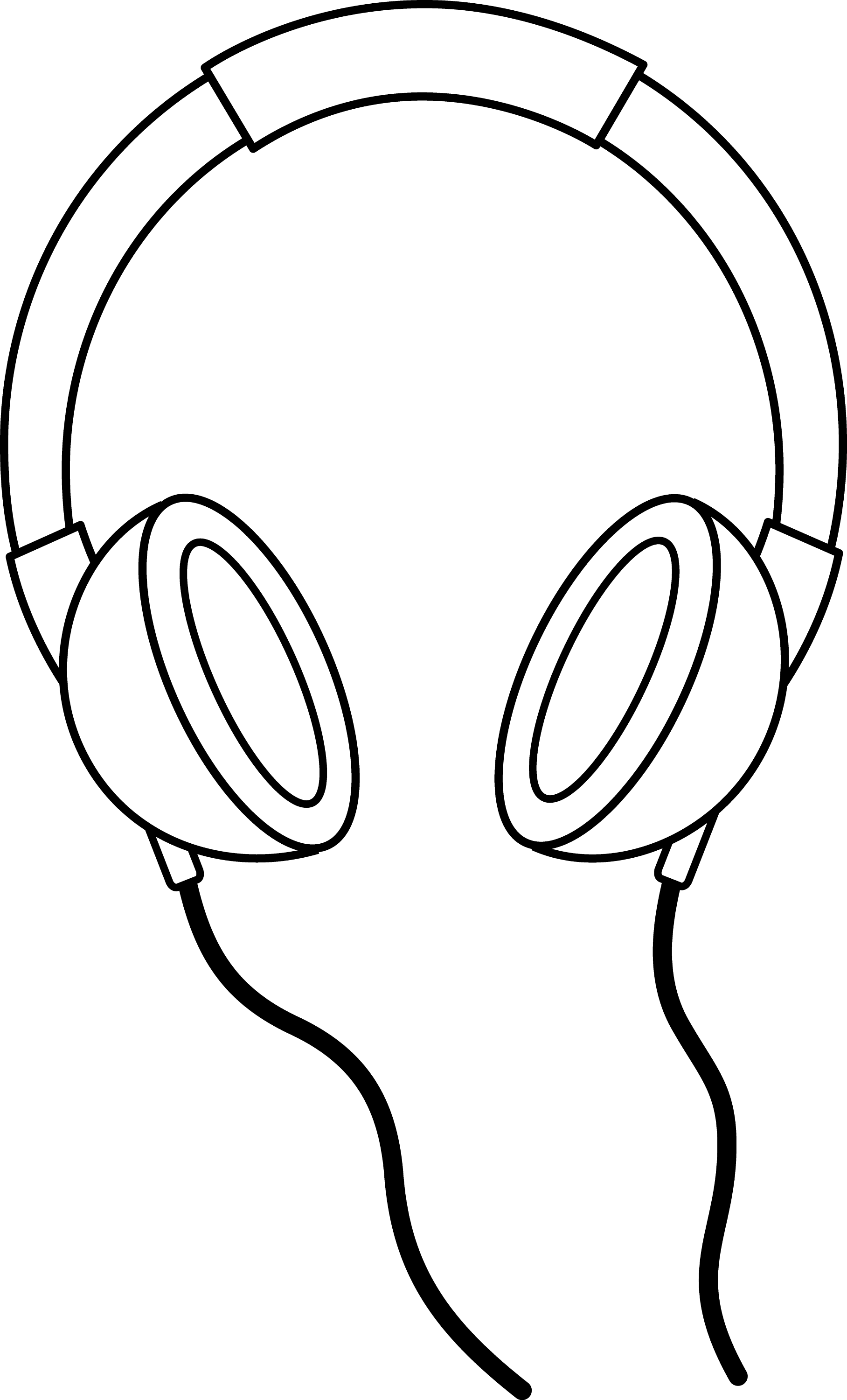 Line Art Headphones : Headphones line art free clip