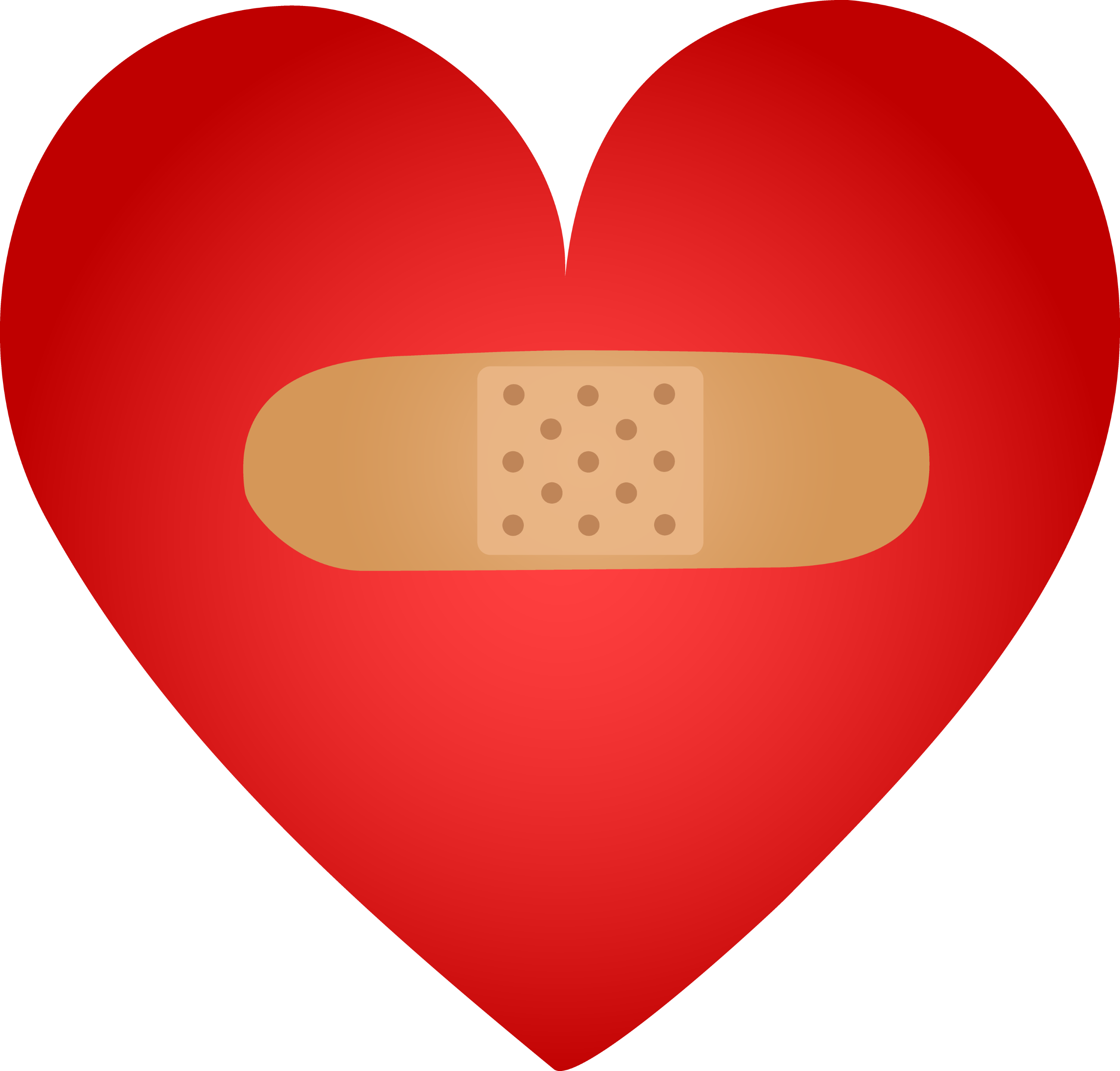 Red Heart Mended With Bandaid