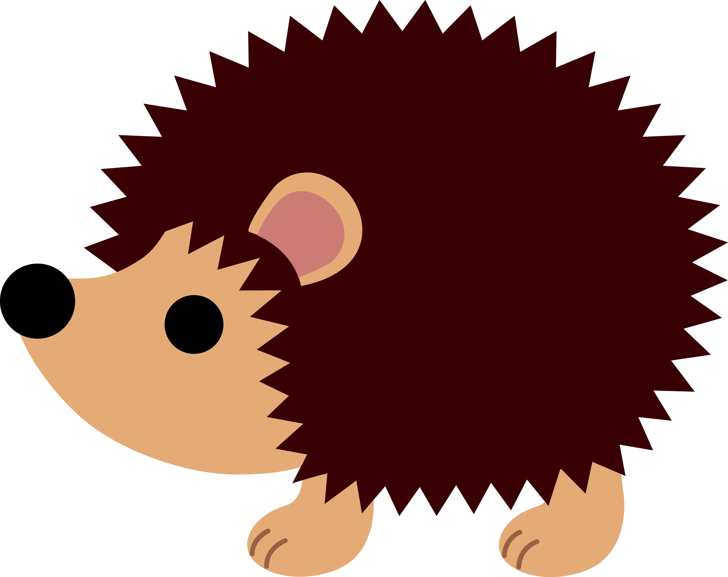 Little Brown Hedgehog  Free Clip Art