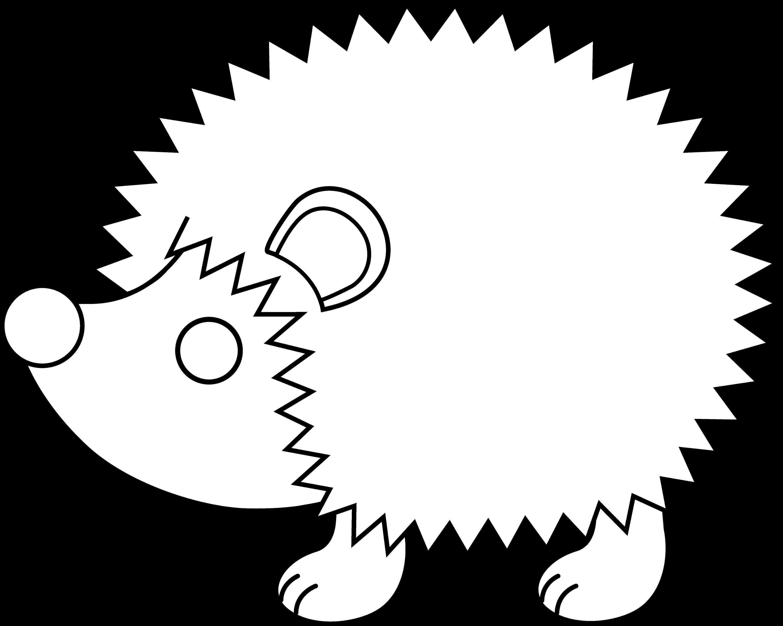 Line Drawing Hedgehog : Cute hedgehog line art free clip