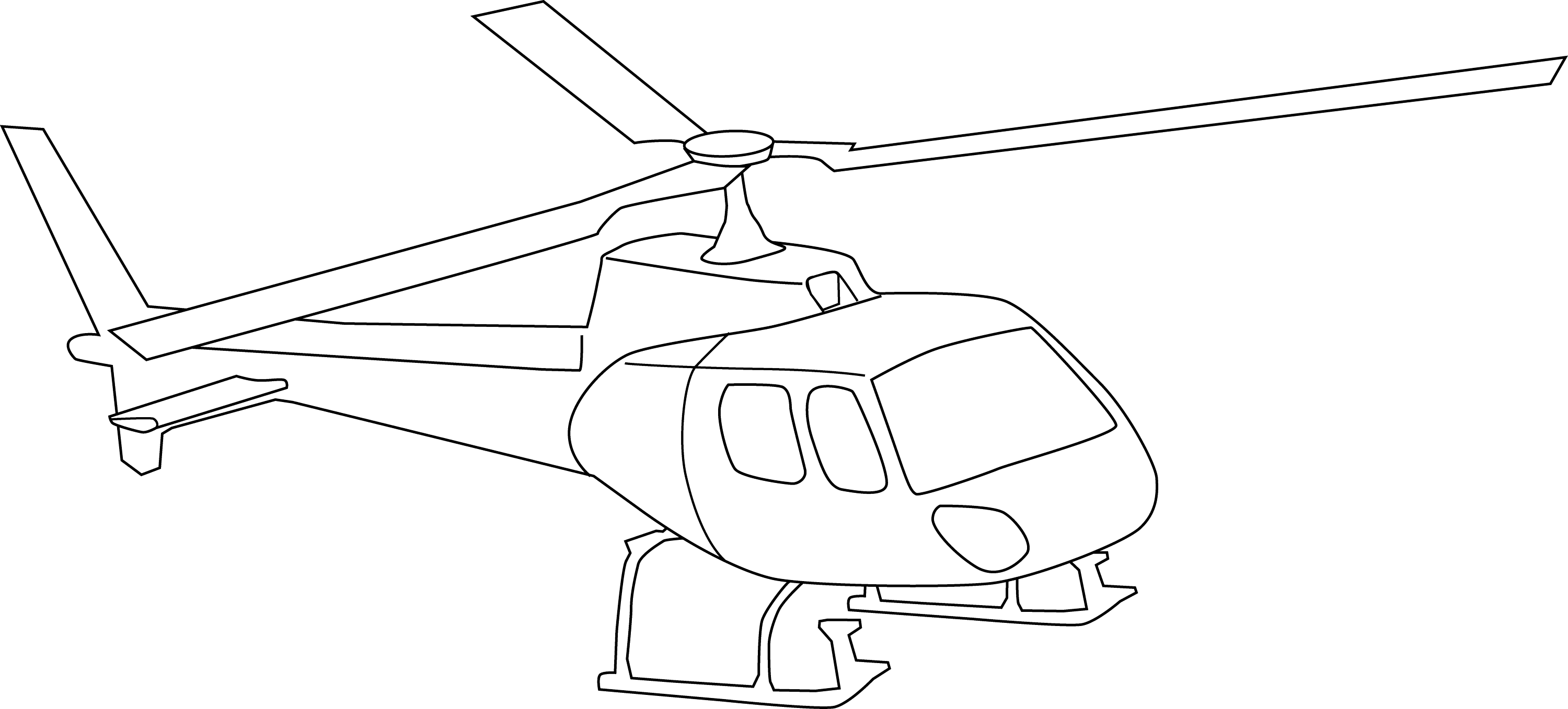 Helicopter Line Art For Coloring