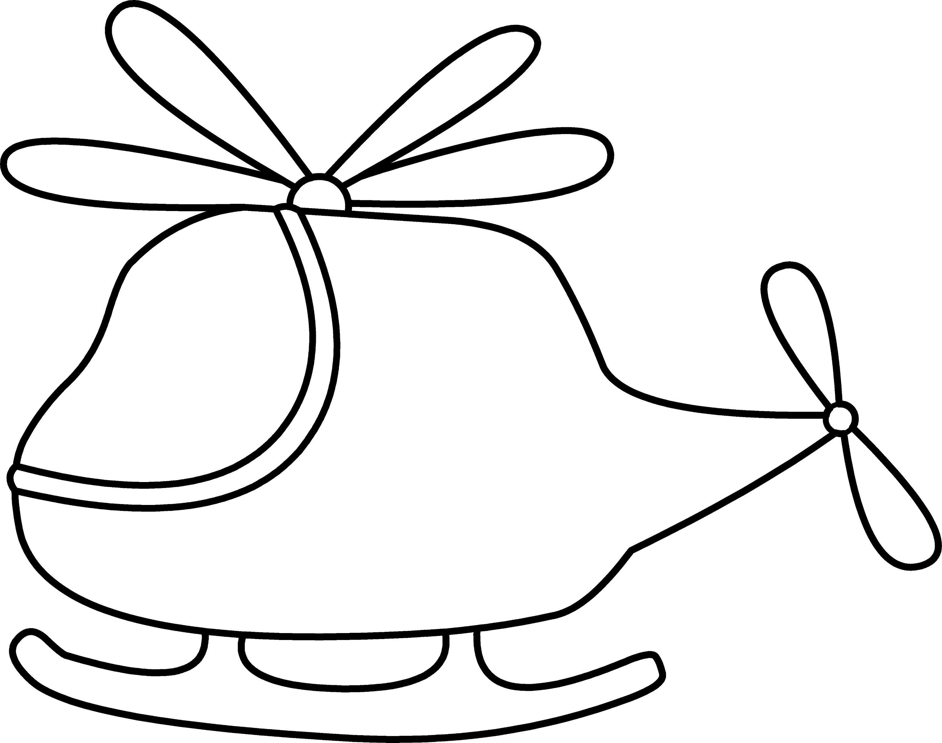 Cute Mini Helicopter Coloring Page - Free Clip Art