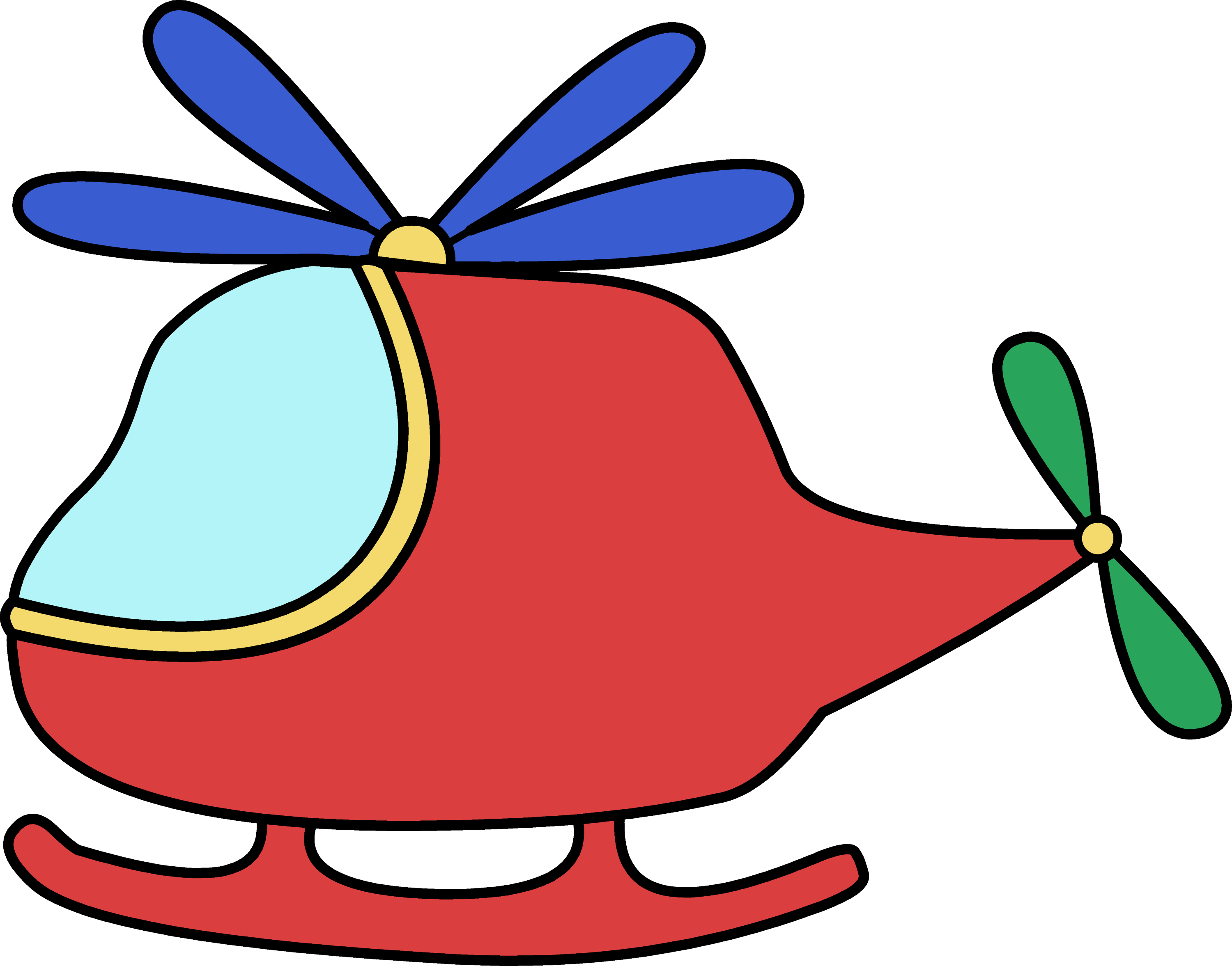 Cute Red Toy Helicopter - Free Clip Art