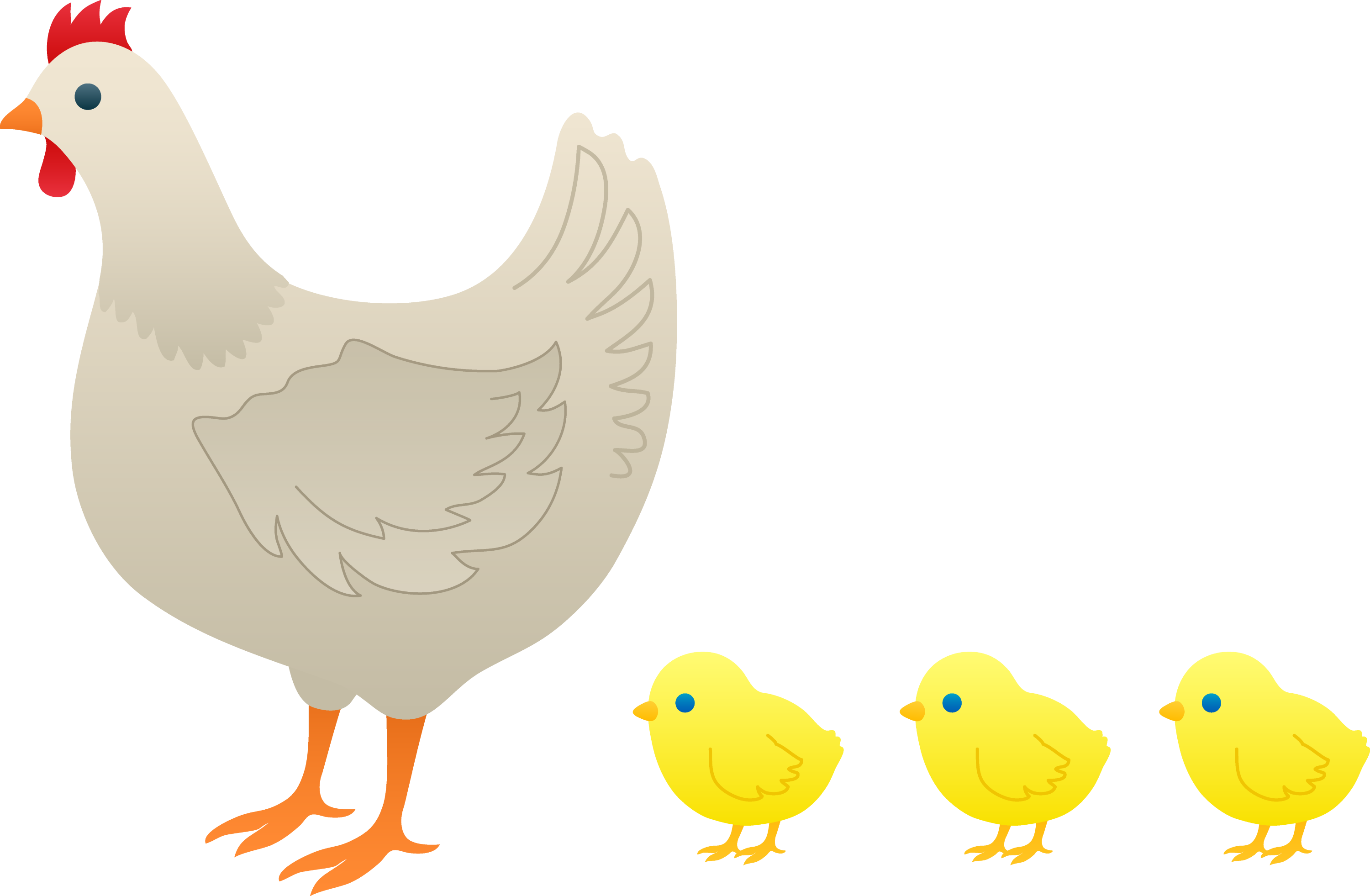 cartoon chicken clip art free - photo #42