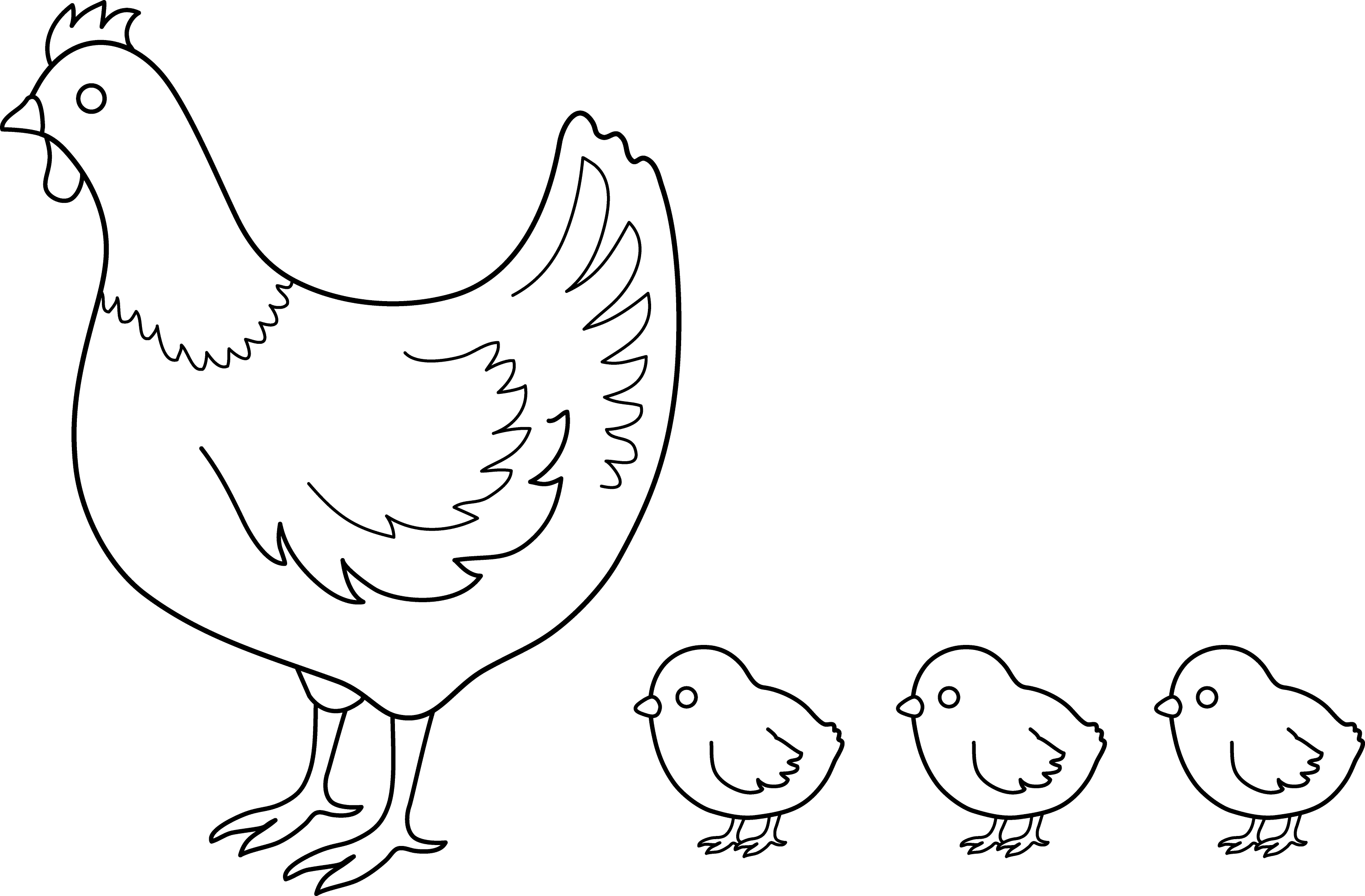 hen and chicks coloring pages - photo#1