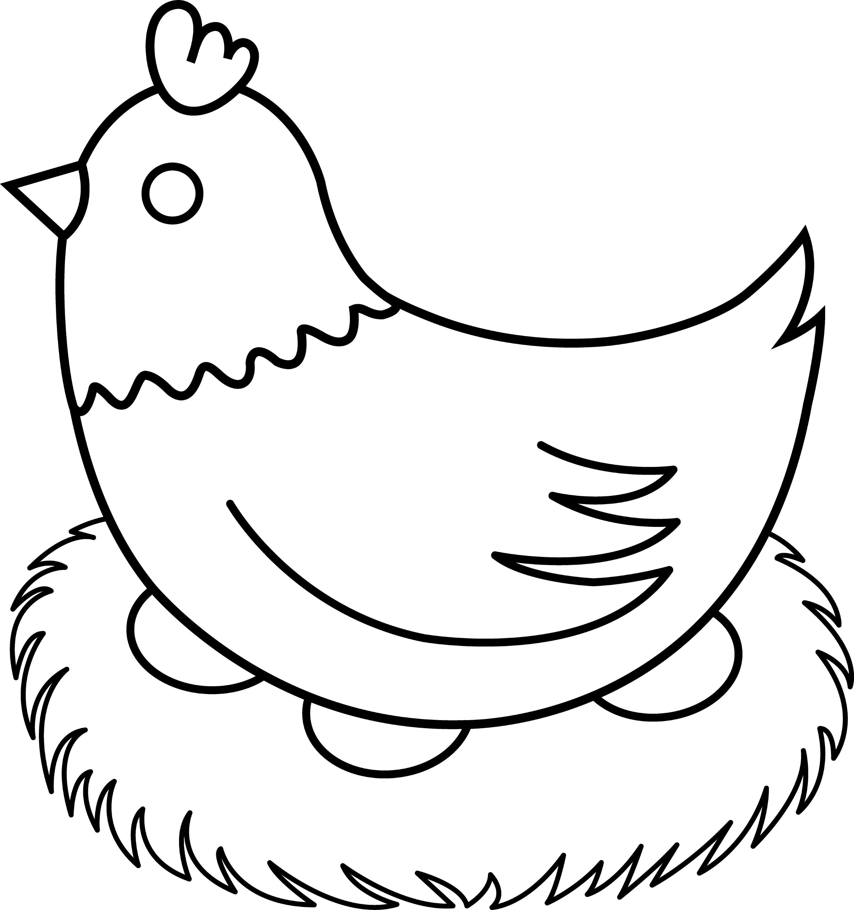 Line Drawing Hen : Chicken black and white clip art imgkid the