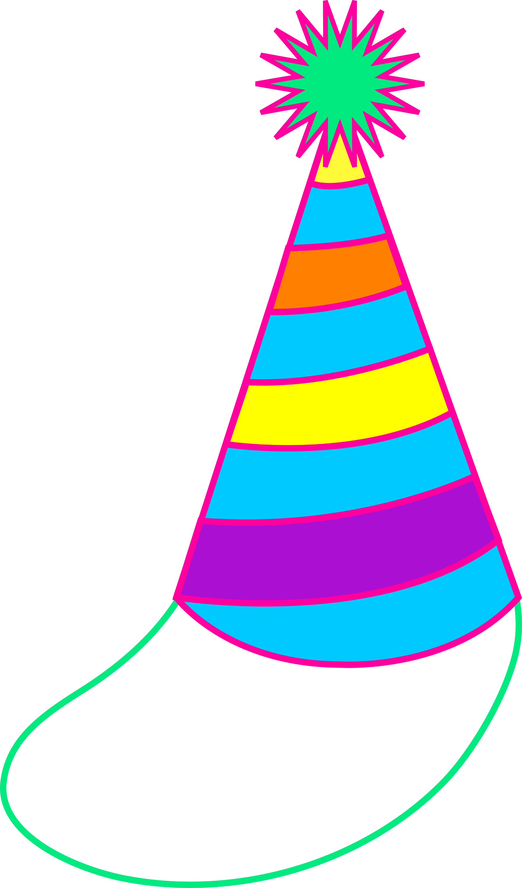 colorful party hat free clip art rh sweetclipart com birthday hat clipart black and white birthday party hat clipart free