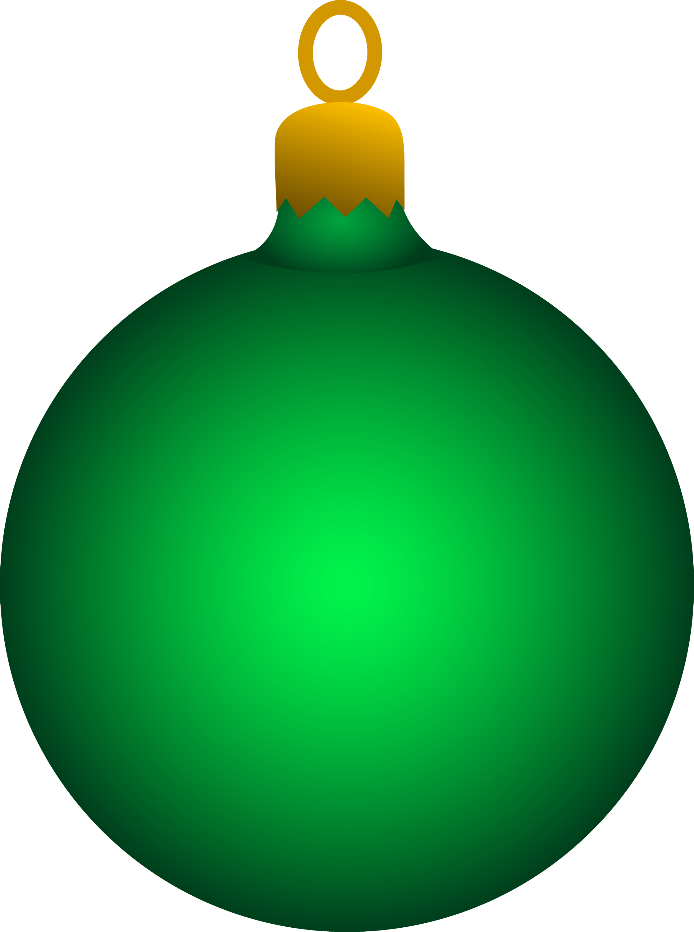 Green Christmas Tree Ornament - Free Clip Art