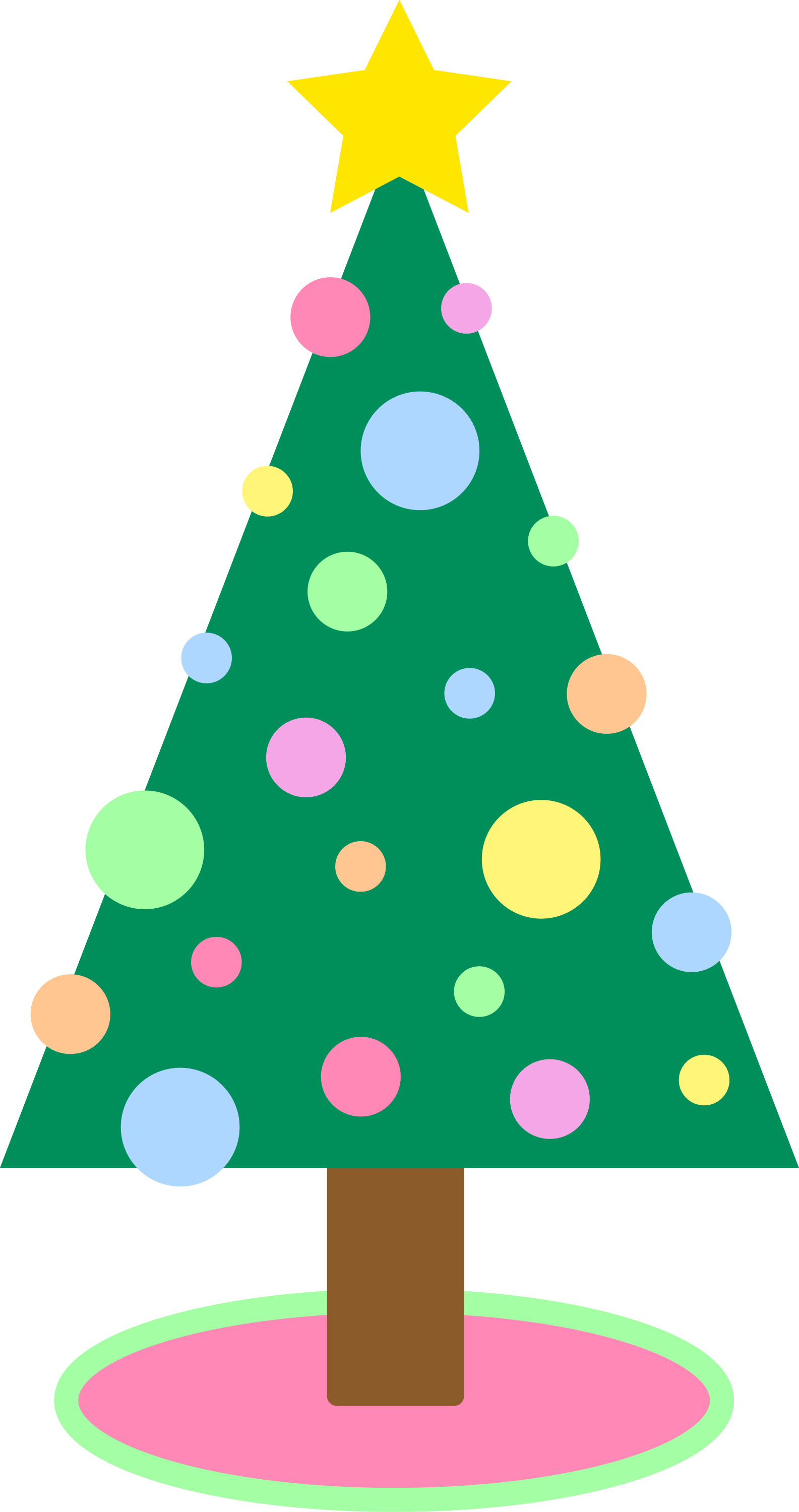 Amazing Holiday Christmas Tree In Pastel Colors