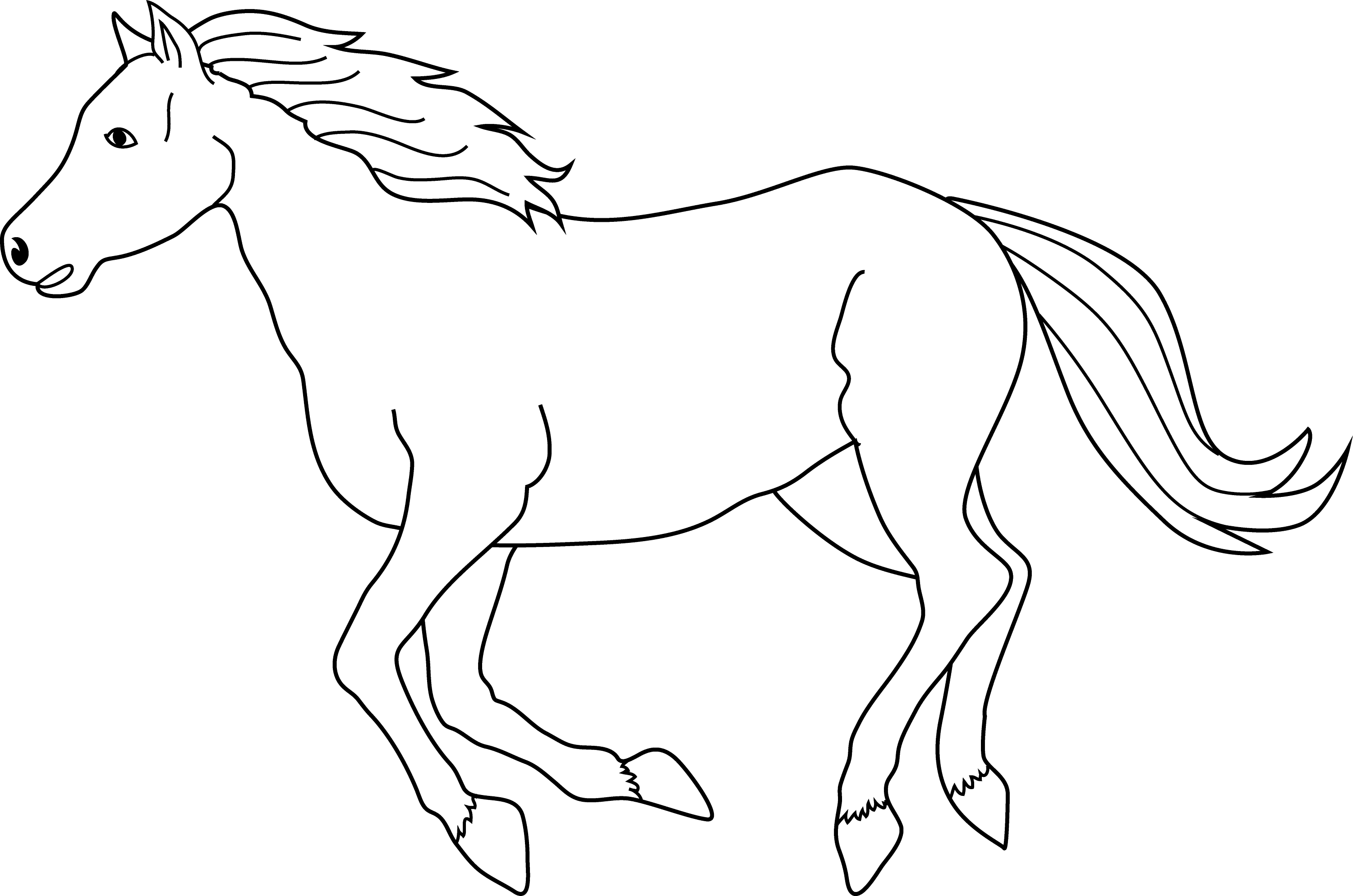 coloring pages horses running - photo #40