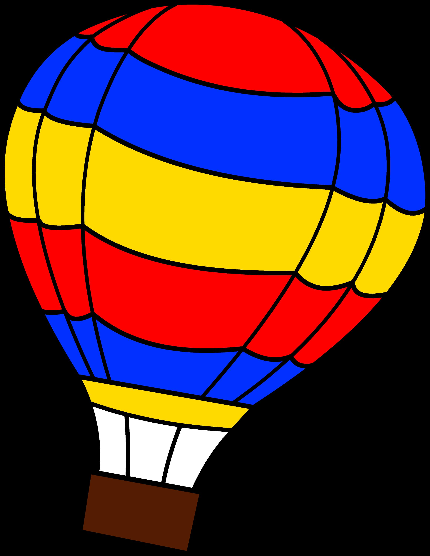 simple colorful air balloon free clip art